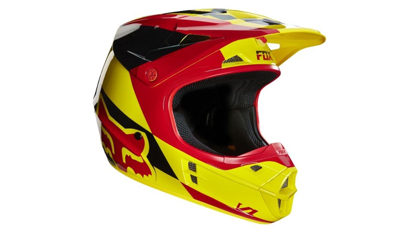 10ee5b6dc Image is loading Fox-V1-Mako-Helmet-Yellow