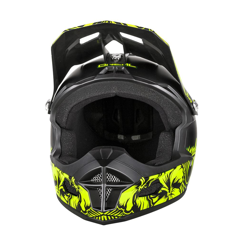 ONEAL Fury RL CASCO Afterburner Occhiali Action Cam Fullface Mountain Bike Downhill