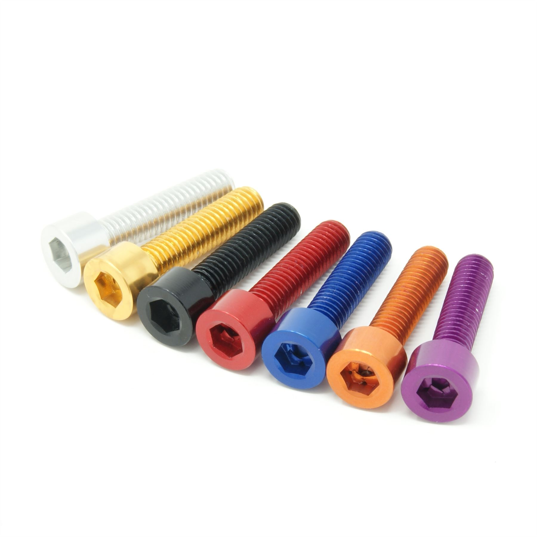 M5 Lega Tappo Testa Bullone Alluminio Anodizzato-variazione di colori disponibili