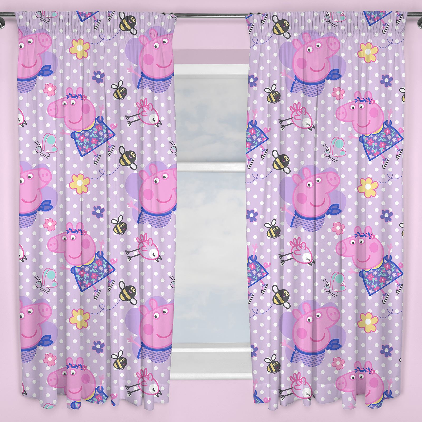 PEPPA PIG HAPPY CURTAINS AVAILABLE IN 54\