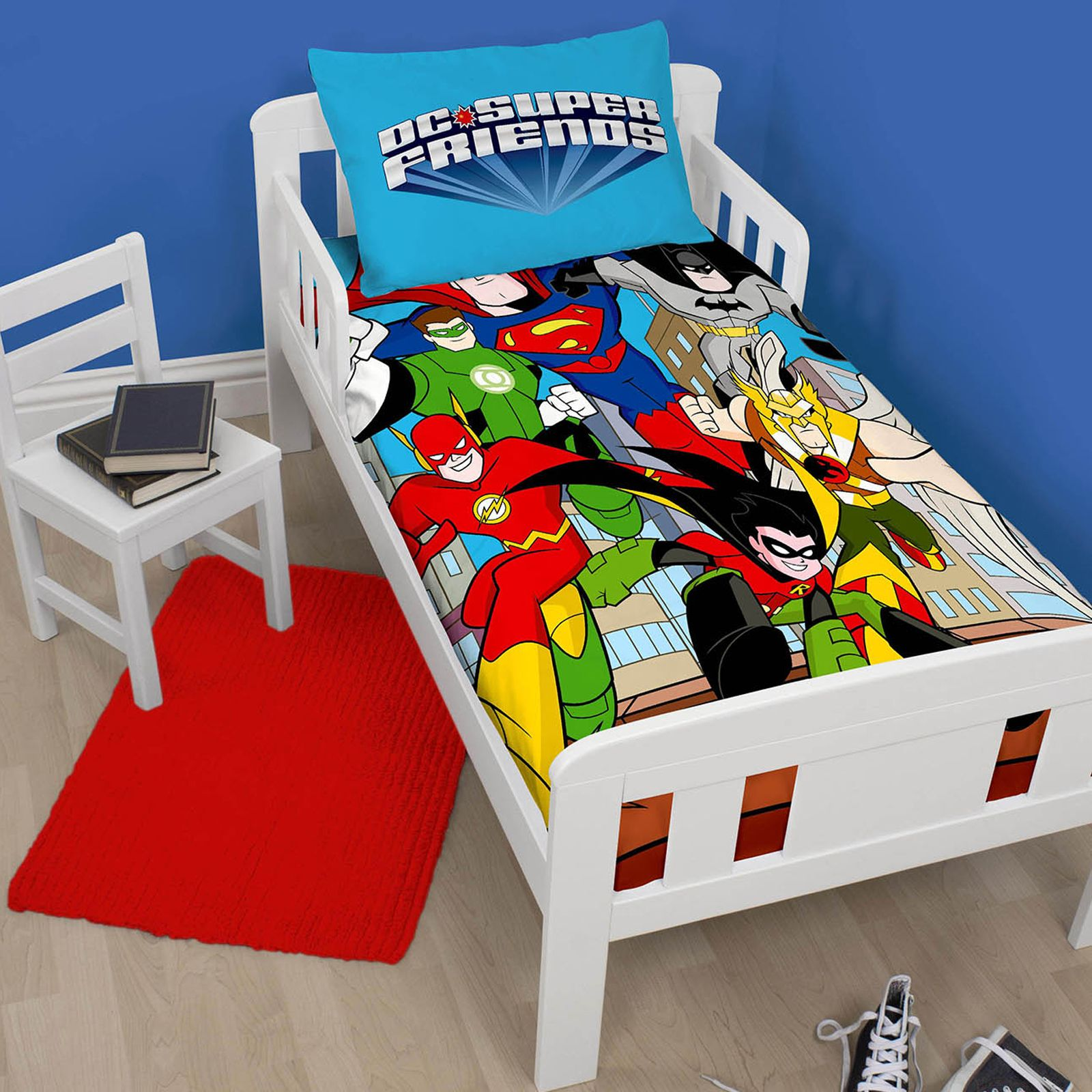 Spiderman and friends bedding - Disney Spiderman Webhead Panel Junior Toddler Cotbed Duvet Bedding Bundle 4 In 1
