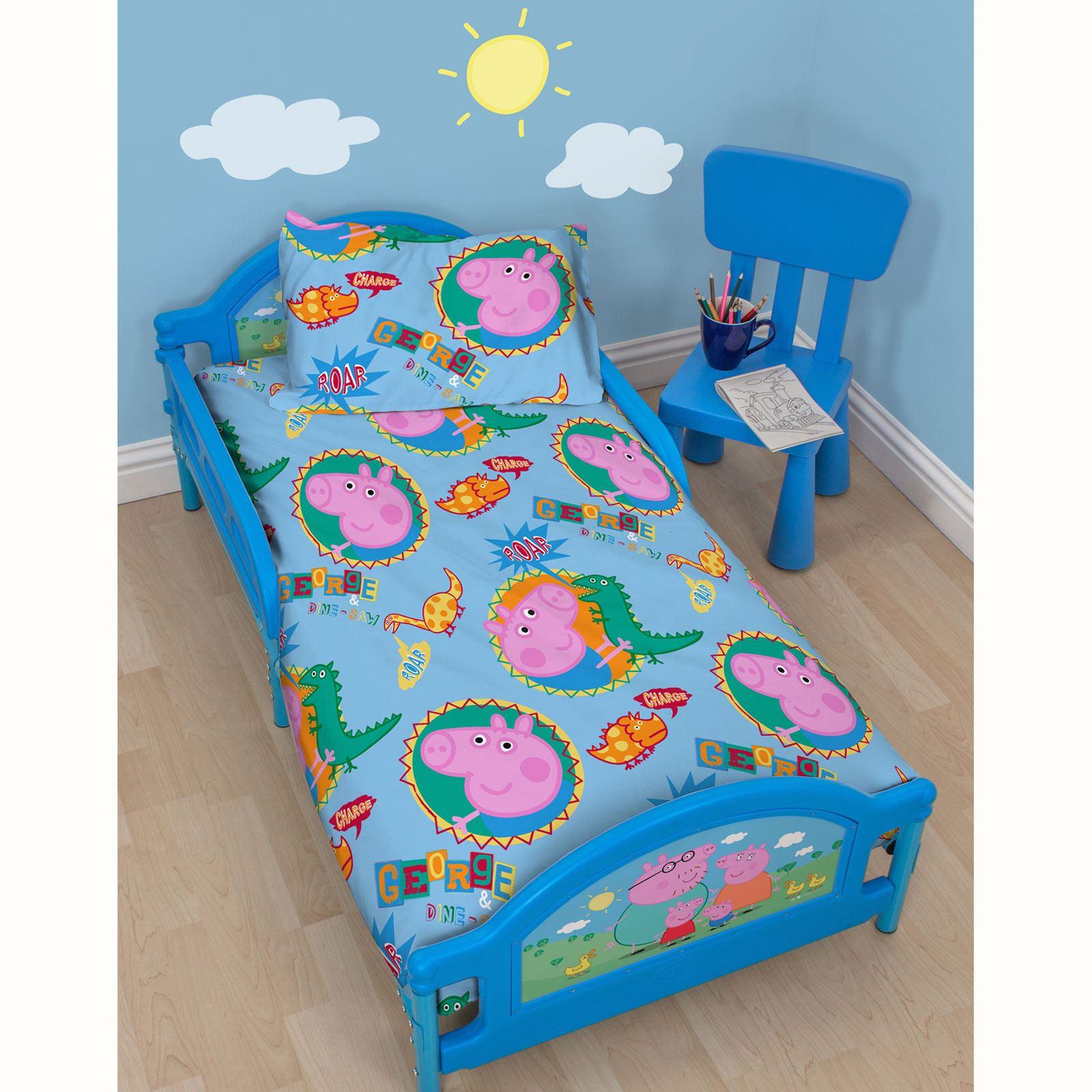 Peppa Pig George Toddler Junior Bed Three Mattress
