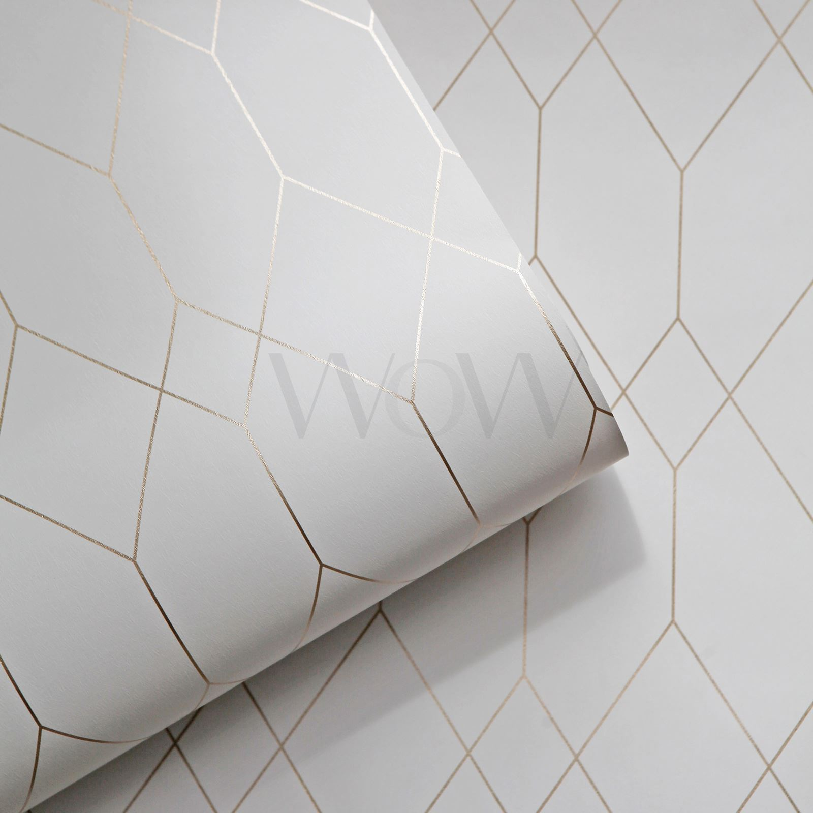 Apex Trellis Sidewall Wallpaper Copper: GEOMETRIC WALLPAPER GLITTER METALLIC