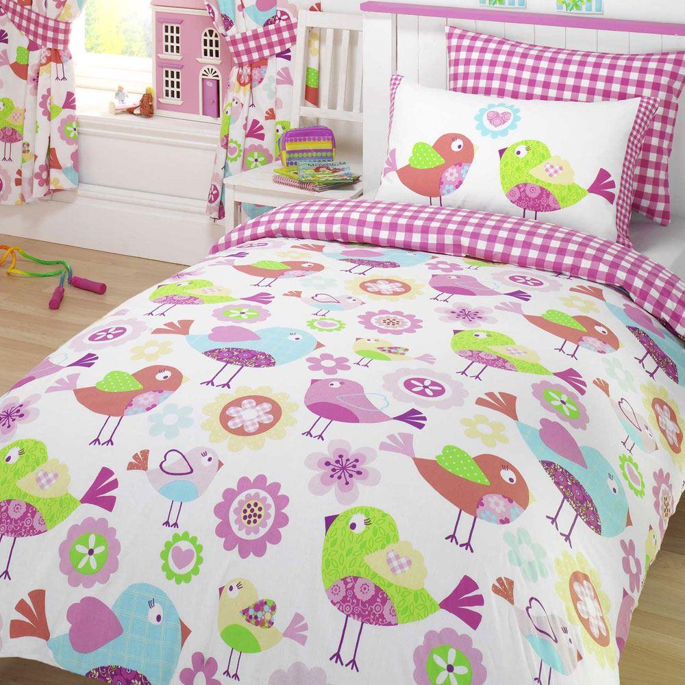 girls duvet covers. BIRD-amp-OWL-GIRLS-DUVET-COVERS-VARIOUS-DESIGNS- Girls Duvet Covers I