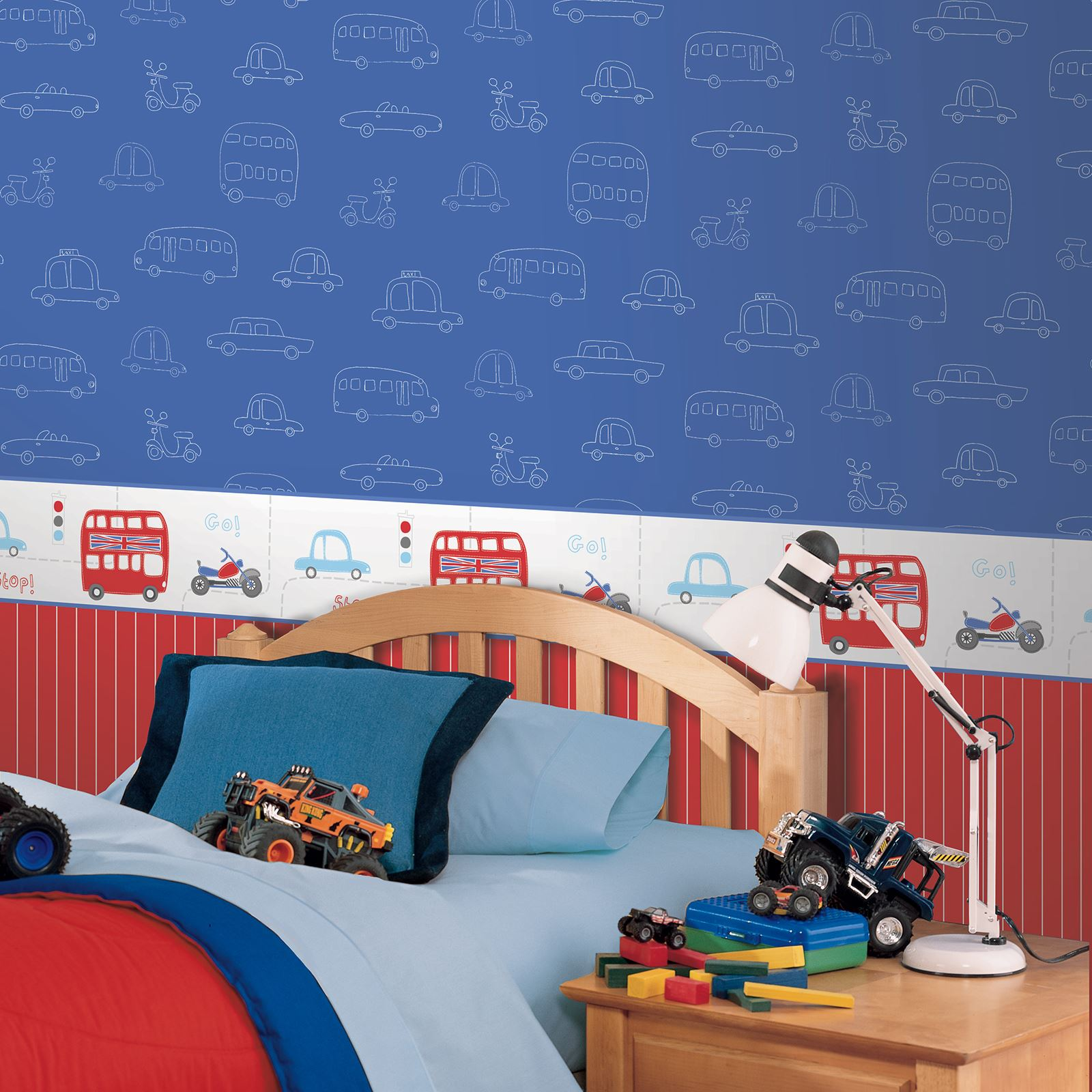 Bedroom Wall Decor Ebay Bedroom Bed Ideas Bedroom Bin B M Anime Bedroom Decor: TRANSPORT AND VEHICLES THEMED WALLPAPER & BORDERS BEDROOM