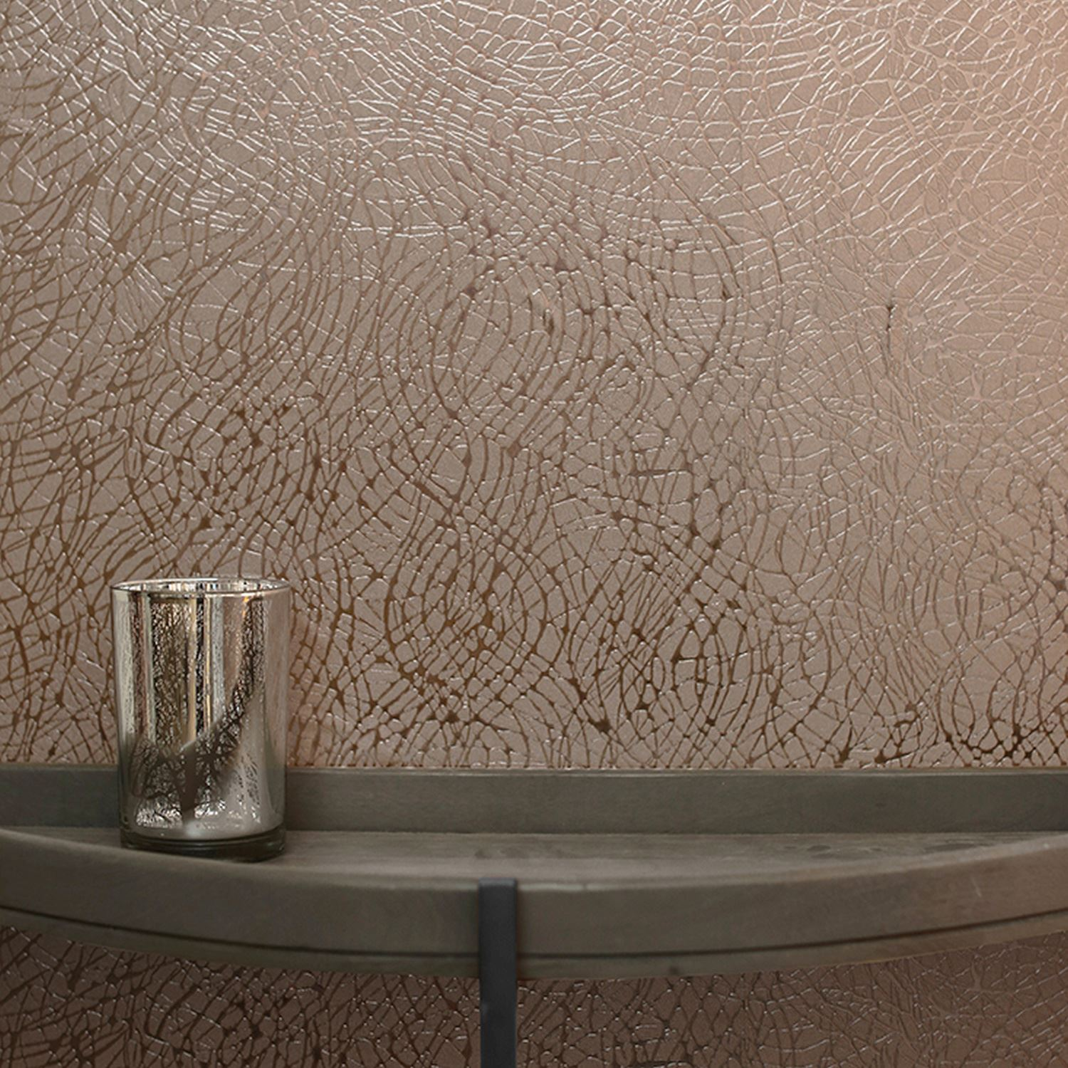 arthouse abstract foil swirl metallic vinyl wallpaper