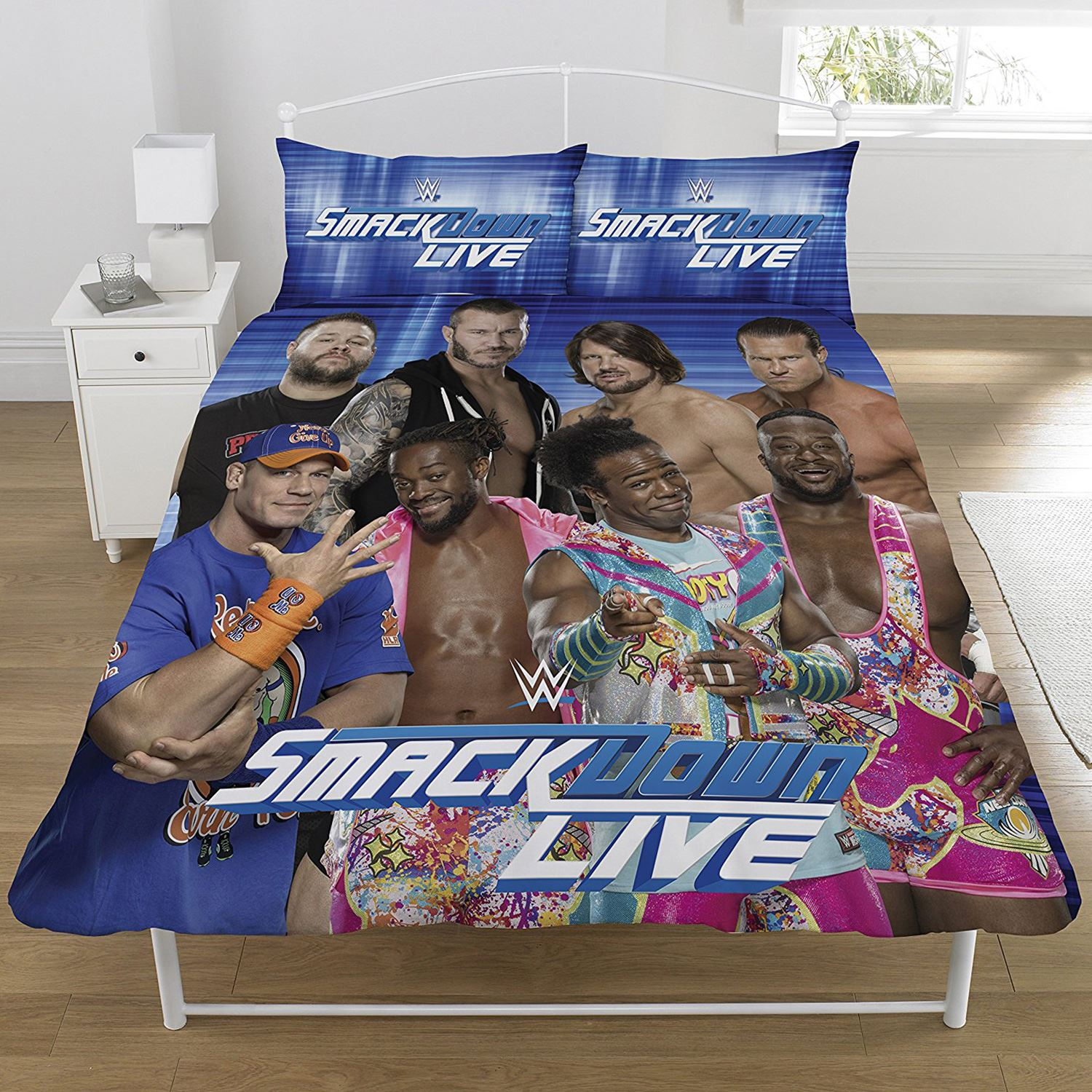 WWE RAW V SMACKDOWN DUVET COVER SET REVERSIBLE KIDS