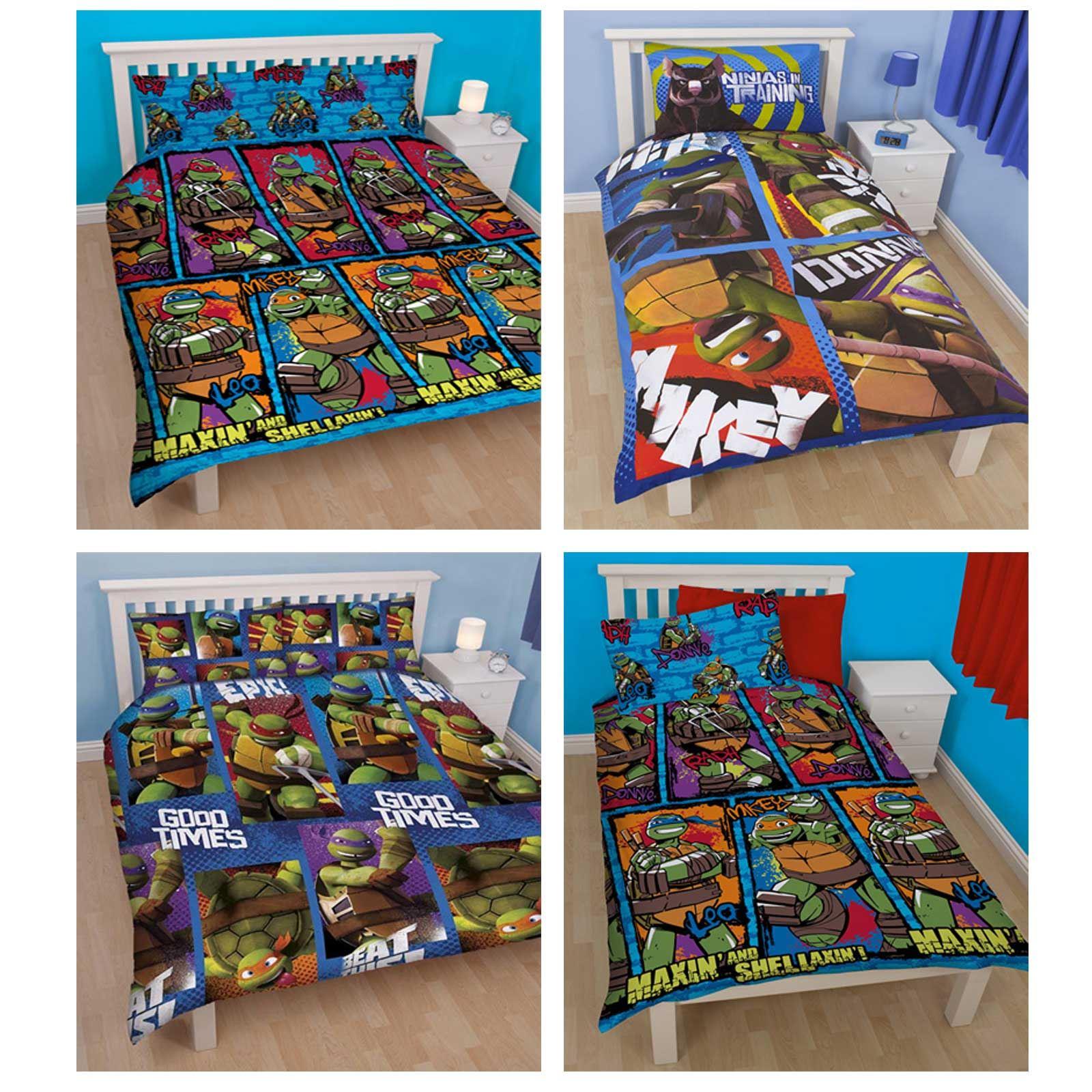 OFFICIAL TURTLES SINGLE DUVET COVER SETS BOYS BEDROOM