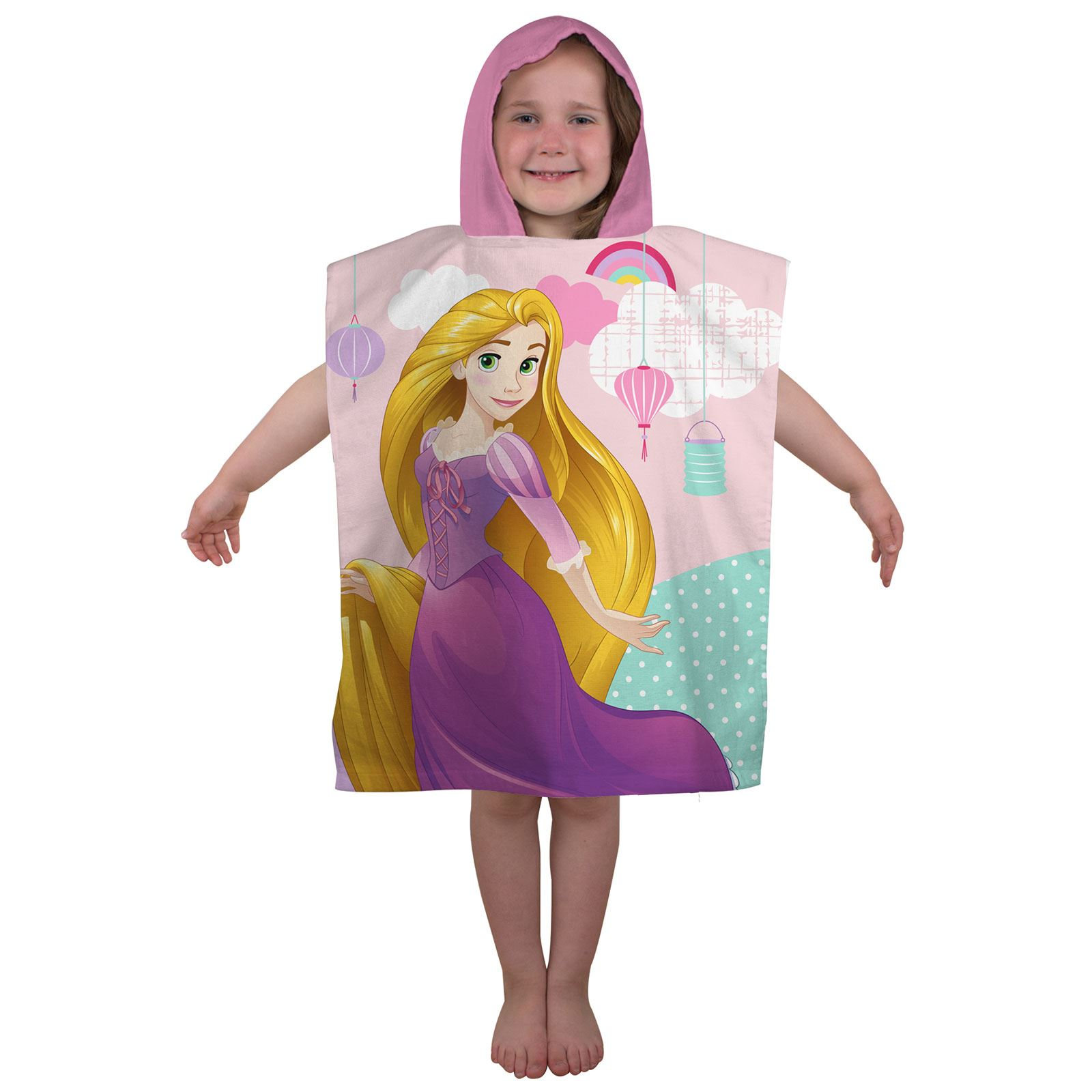 disney prinzessin zauberhaft kapuzen handtuch poncho f r bade strand ebay. Black Bedroom Furniture Sets. Home Design Ideas