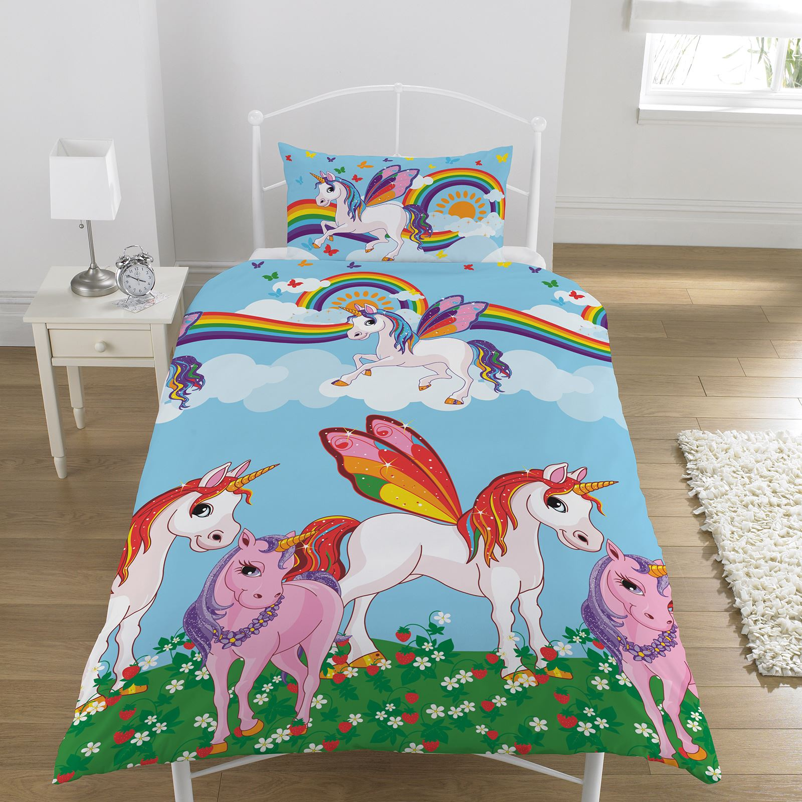 Unicorn Duvet Cover Sets Kids Girls Bedding Junior Single Double King Ebay