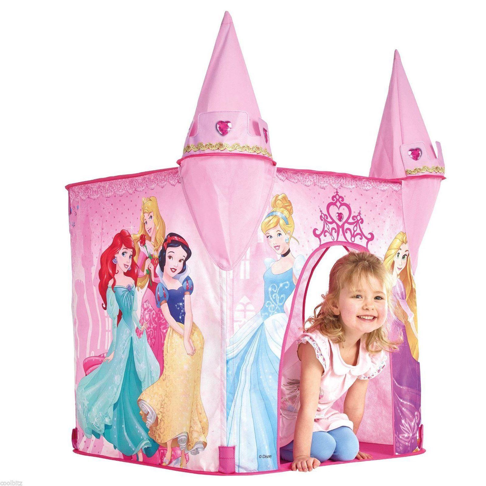 POP-UP-PLAY-TENTS-FEATURE-KIDS-DISNEY-PRINCESS-  sc 1 st  eBay & POP UP PLAY TENTS FEATURE KIDS DISNEY PRINCESS FROZEN CARS ...