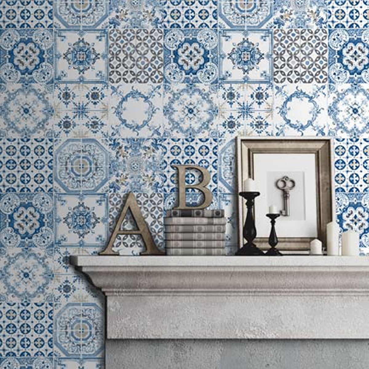 PATTERNED TILES WALLPAPER - CERAMIC, MARBLE, TROPICS BRASILIA ...
