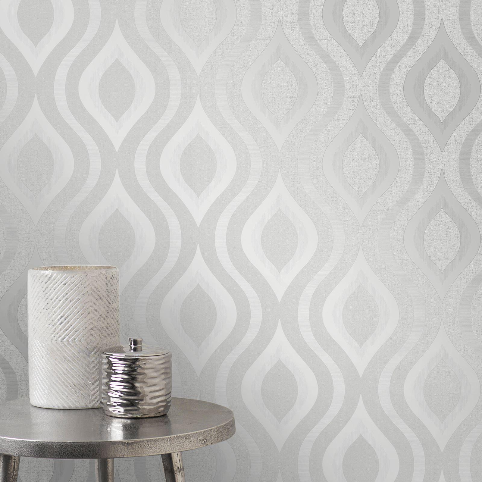 quarz geometrische tapeten silber feine dekor fd41968. Black Bedroom Furniture Sets. Home Design Ideas