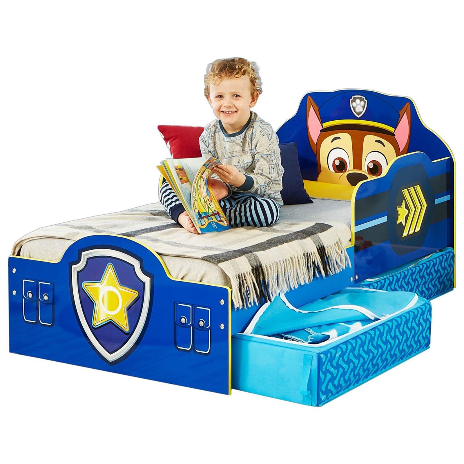 Paw Patrol Chase cama infantil con inferior almacenaje + Colchón ...