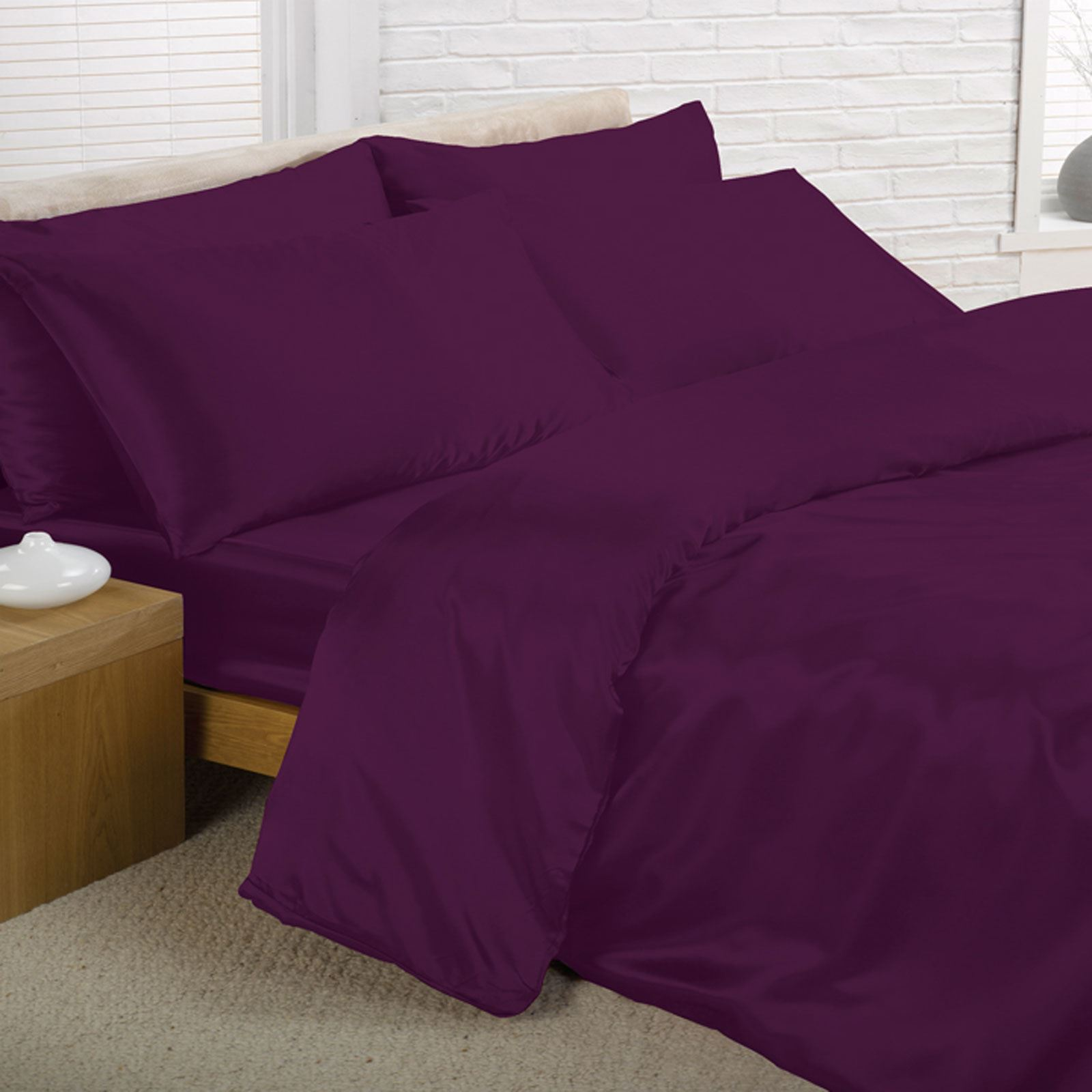 Popular Satin Bedding Sets - 6 Piece Set - Duvet Cover + Fitted Sheet +  JN59