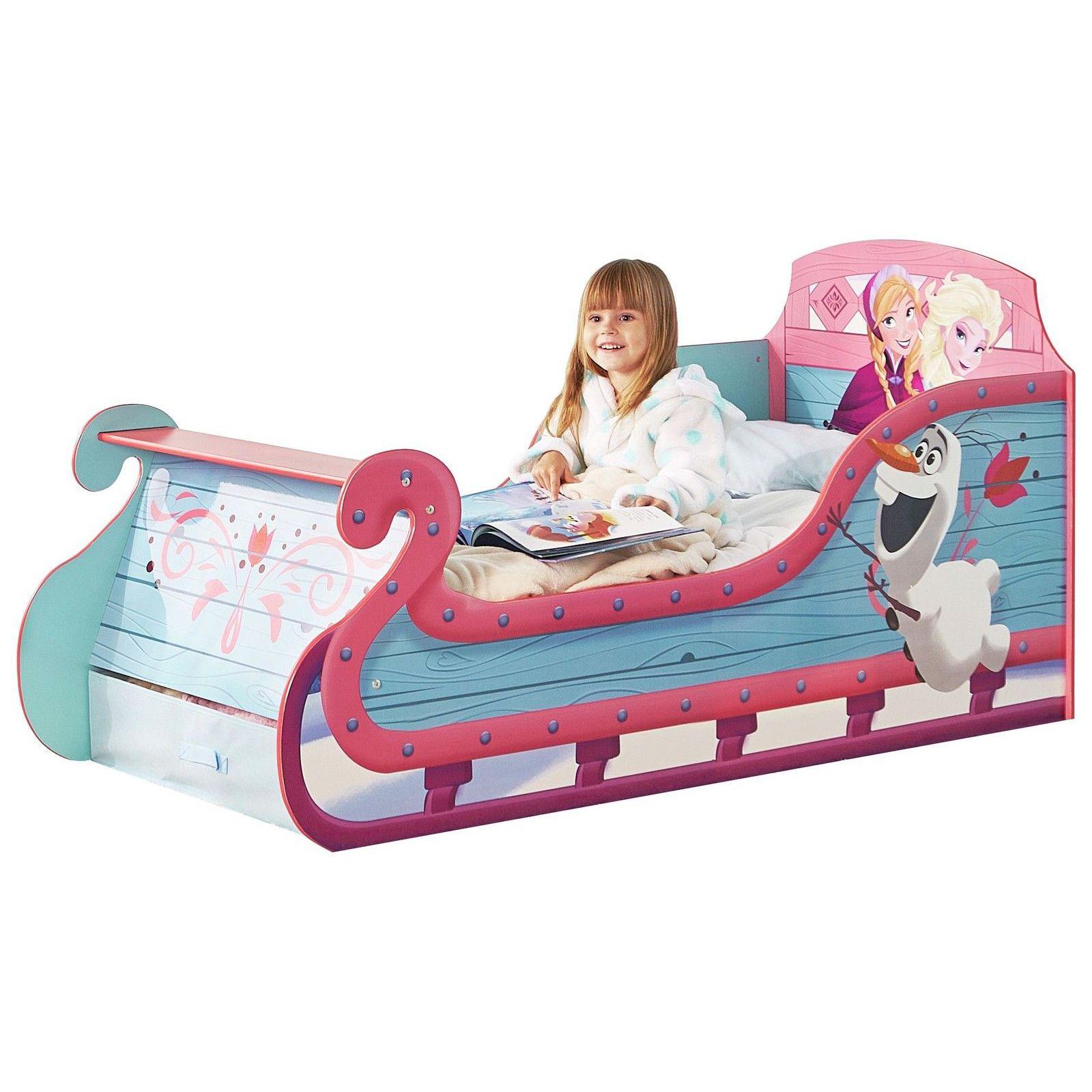 Disney Frozen Schlitten Kleinkind Bett mit unterbett-aufbewahrung   eBay