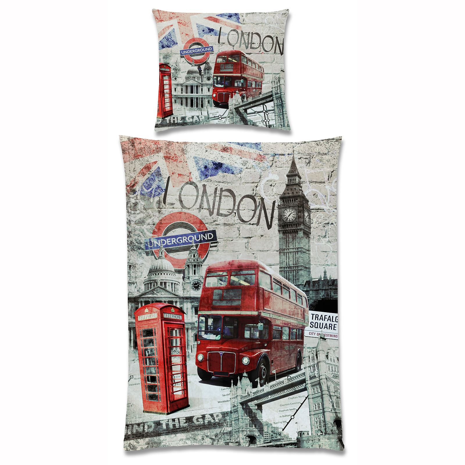 LONDON BEDDING SINGLE DUVET COVER SETS CITY LANDMARKS BIG BEN ...