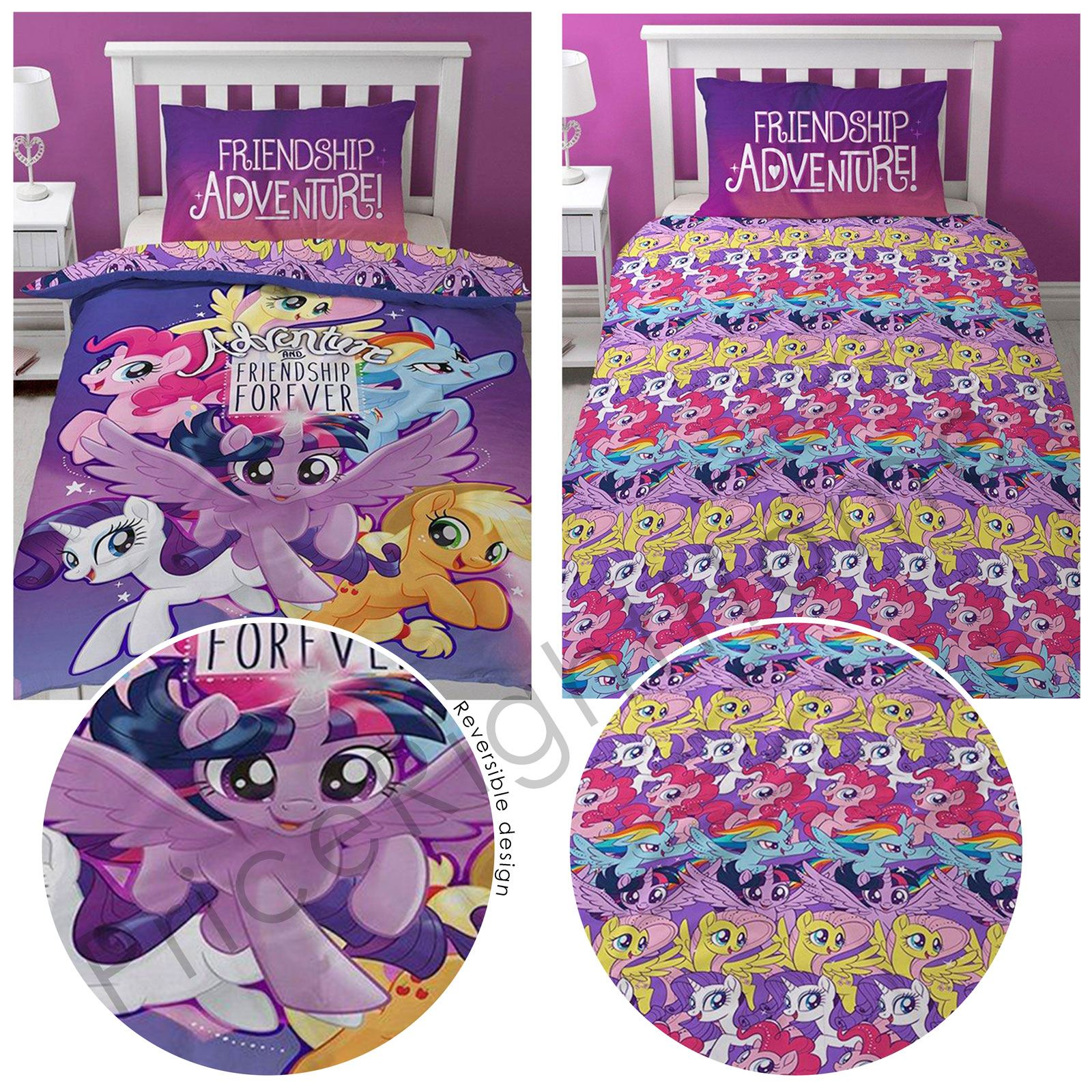 Awesome MY LITTLE PONY MOVIE ADVENTURE DUVET COVER SETS
