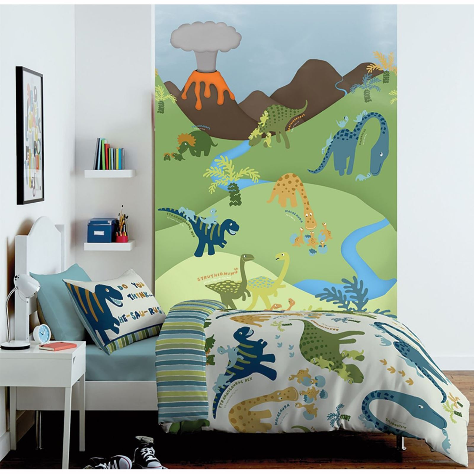Charmant CATHERINE LANSFIELD BEDROOM RANGE DINOSAUR BEDDING, WALL MURAL AND RUG FREE  P+P