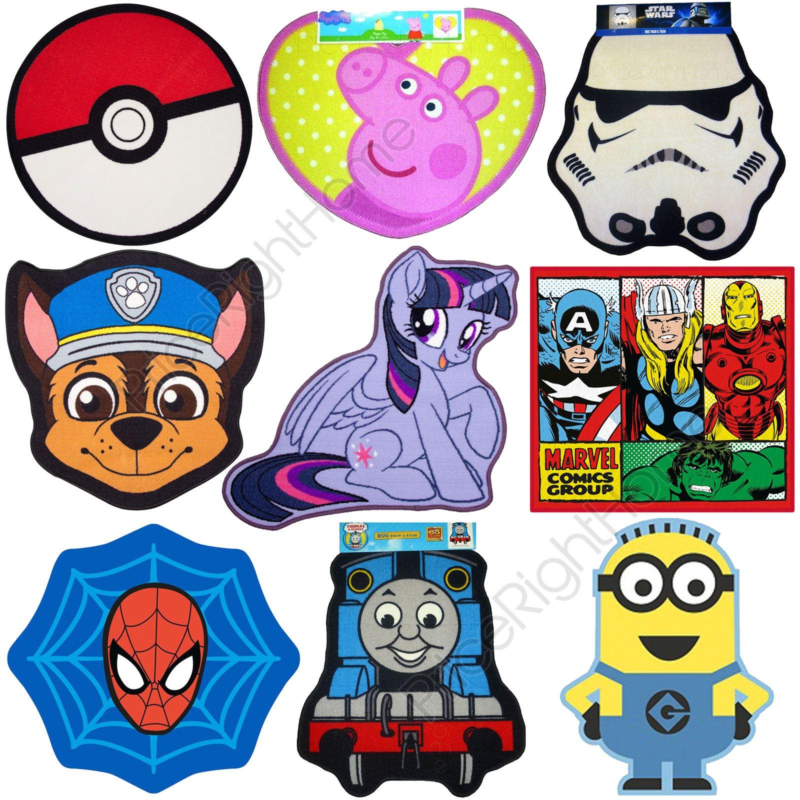 Awe Inspiring Details About Kids Character Disney Floor Mats Rugs Peppa Pig Pokemon Thomas Minions Marvel Interior Design Ideas Tzicisoteloinfo