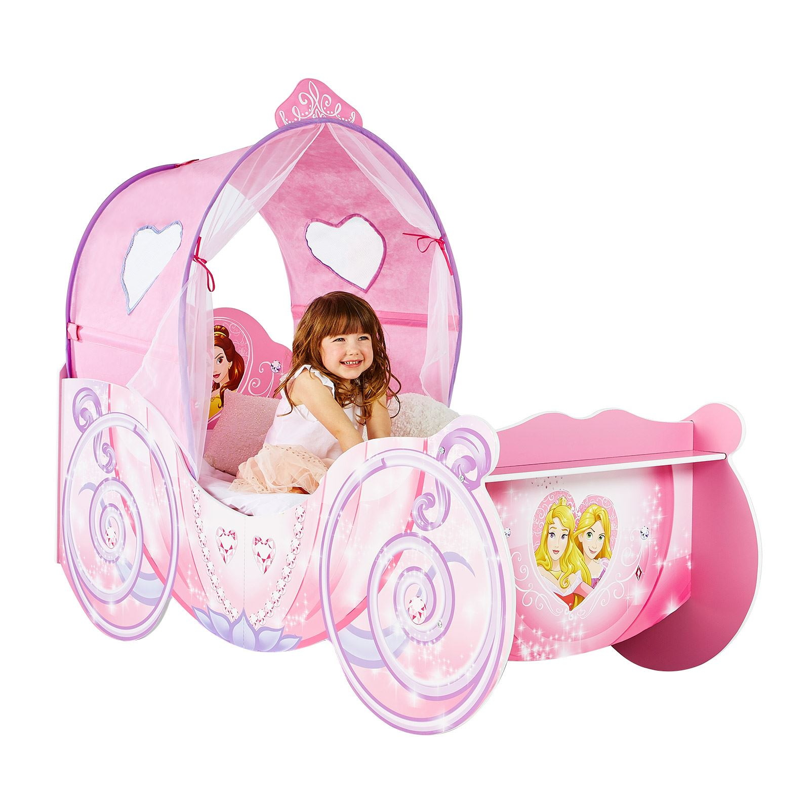 Disney princess carriage fonction toddler bed and 3 matelas options disponibles