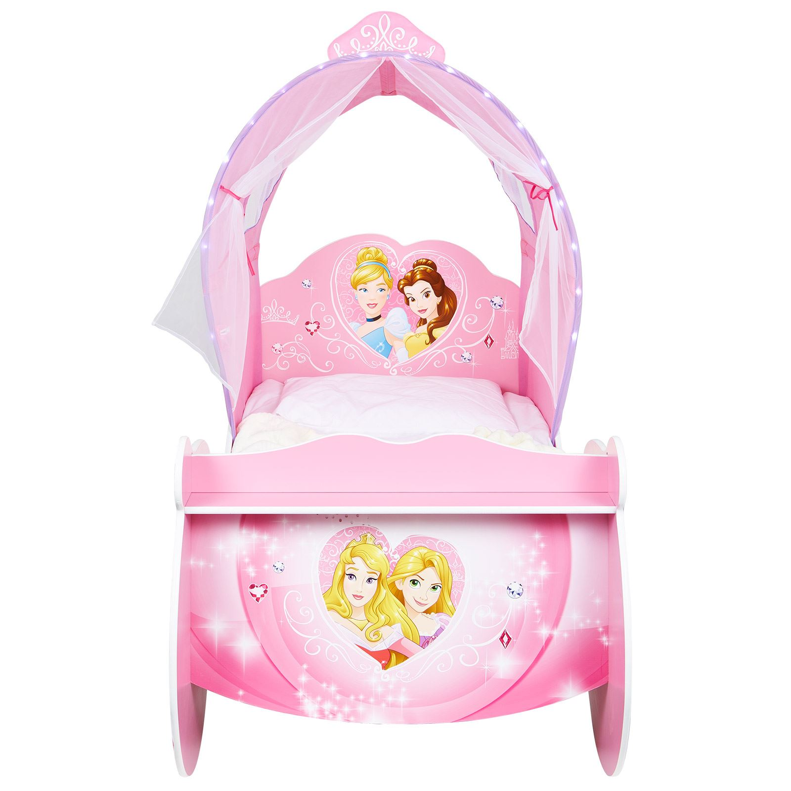 Superior DISNEY PRINCESS CARRIAGE FEATURE TODDLER BED WITH PROTECTIVE SIDE GUARD  FREE P+P Great Pictures