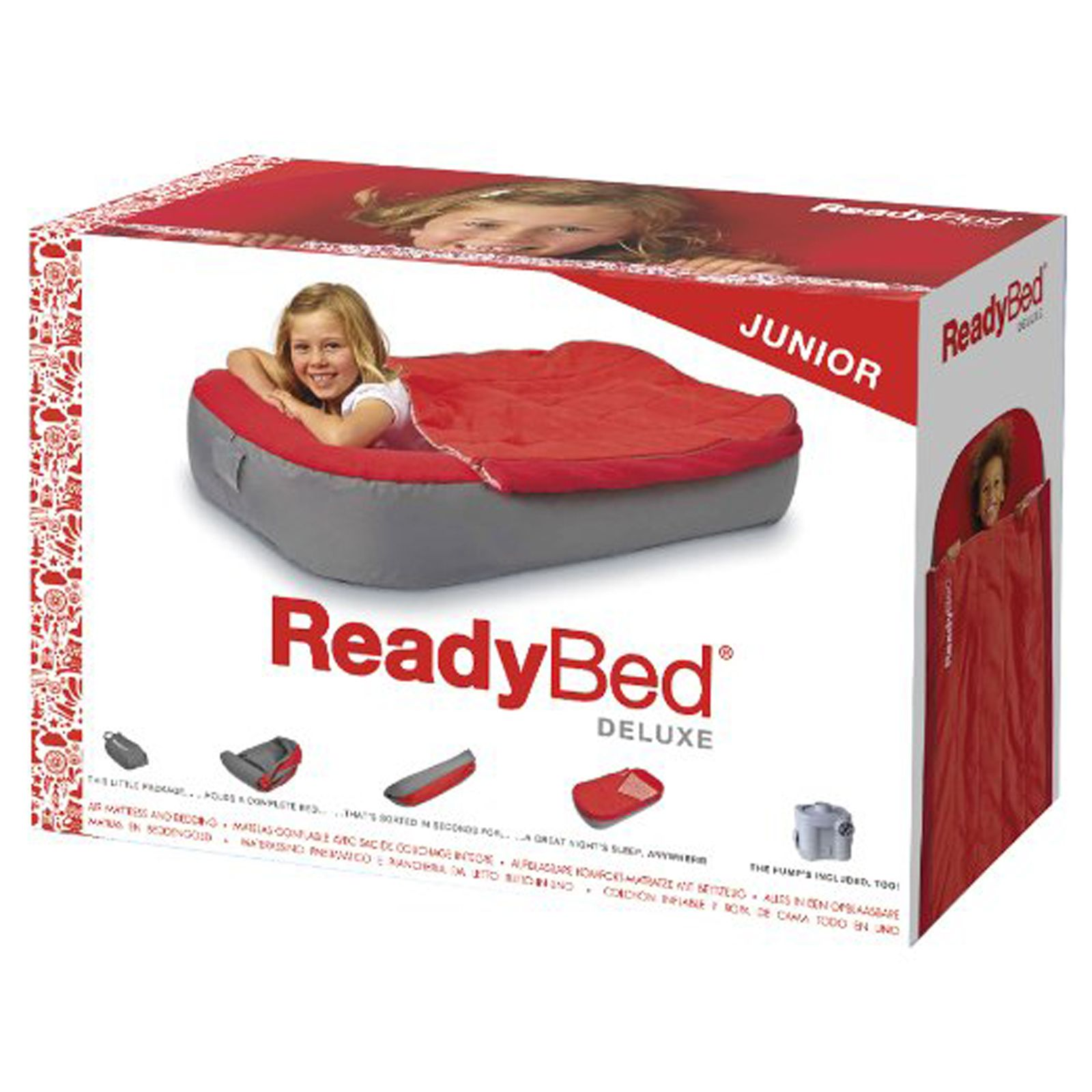 Inflatable Bed Netherlands: WORLDS APART DELUXE Junior Ready Bed With Pump Inflatable