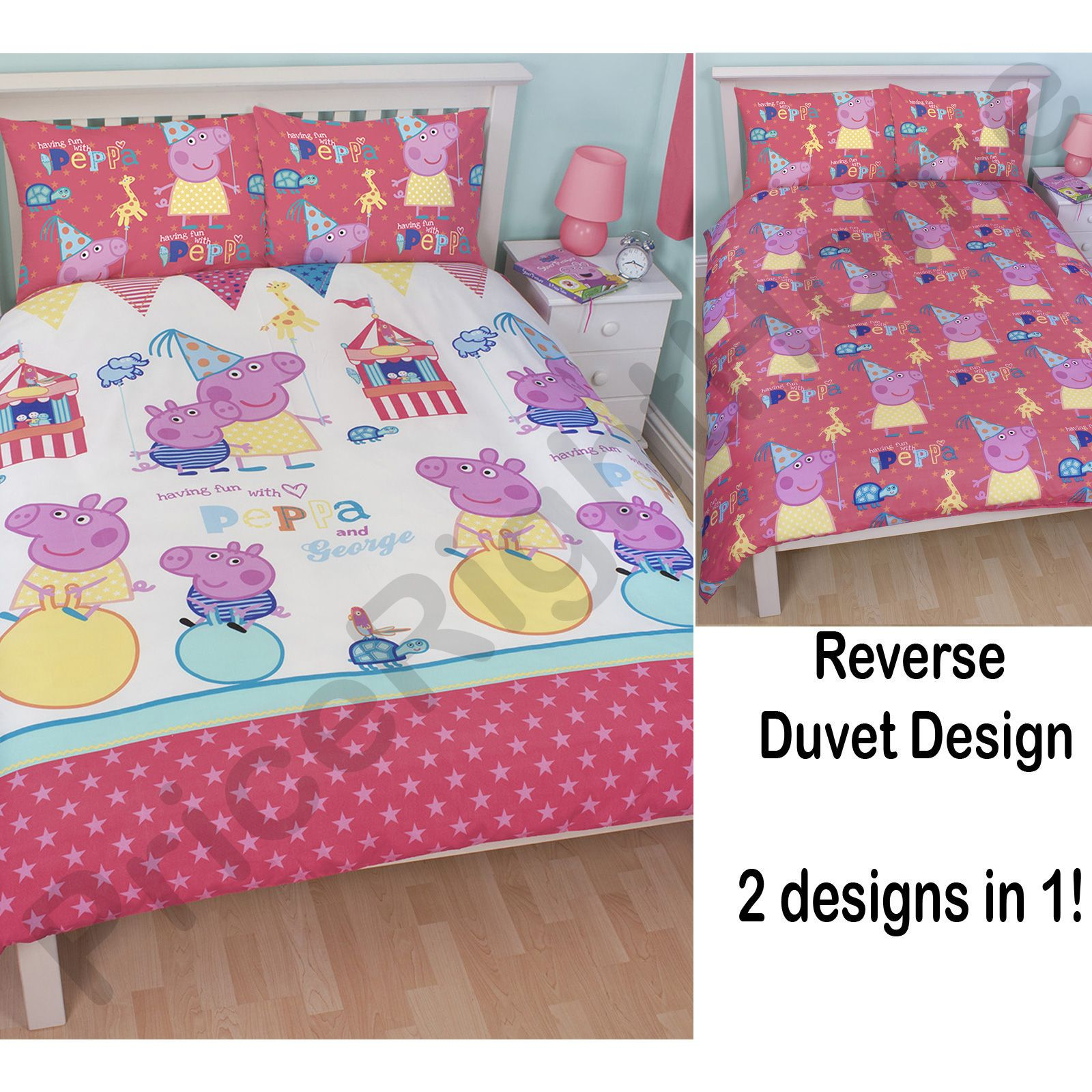 Peppa pig and george bedding single double junior - Housse couette pirate ...