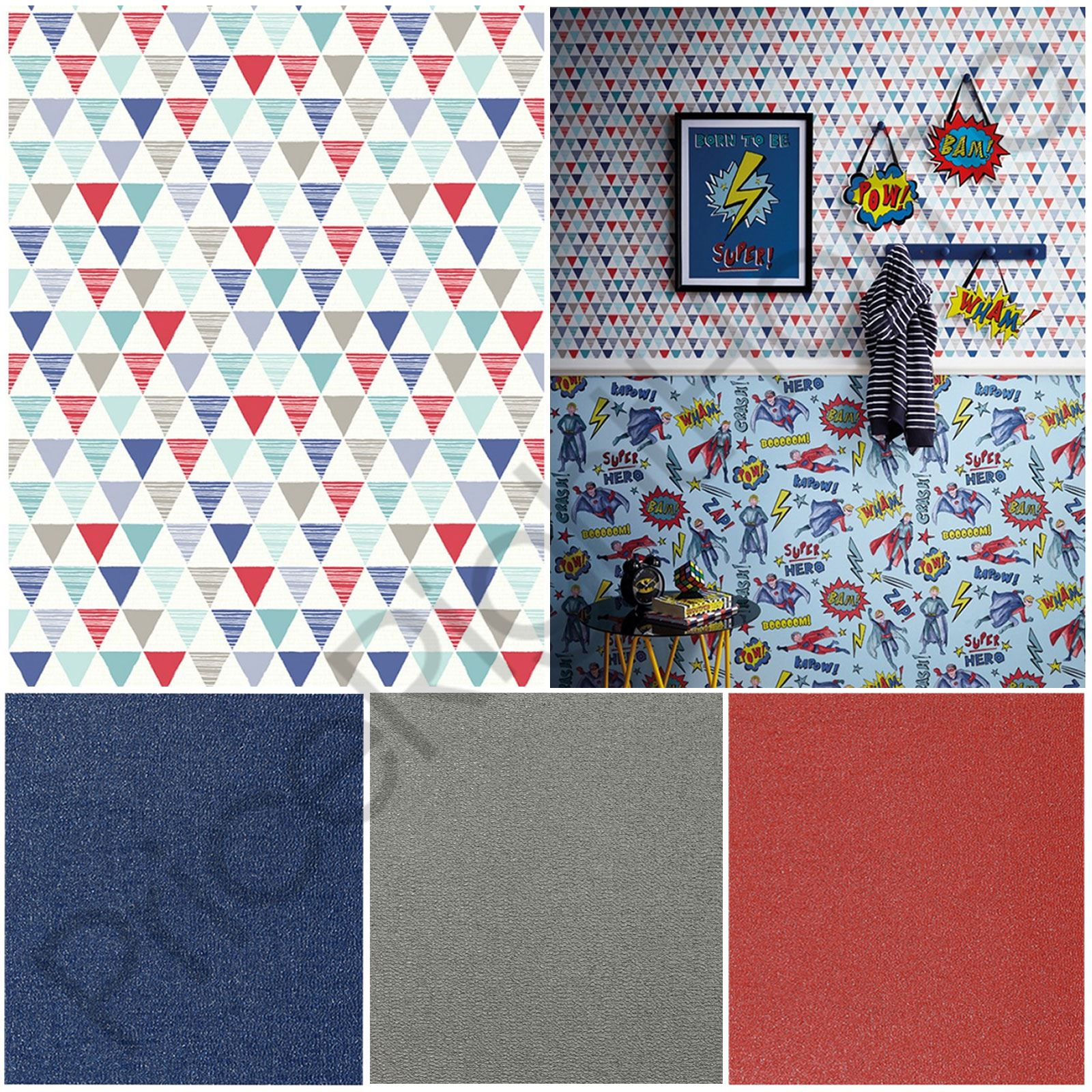 Arthouse Jester Geometric Red Blue Amp Glitterati Glitter