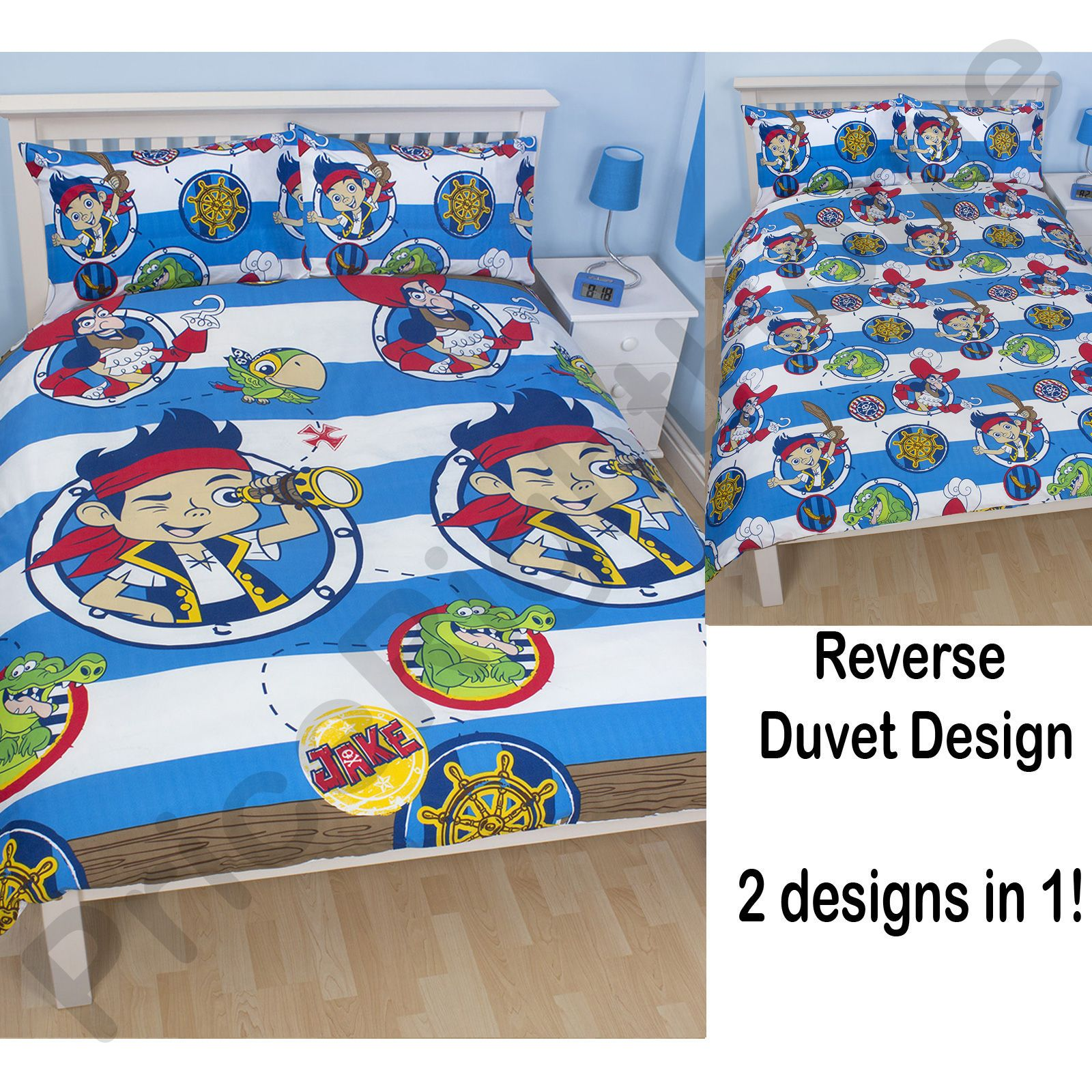 JAKE Amp THE NEVERLAND PIRATES BEDROOM DUVET COVERS