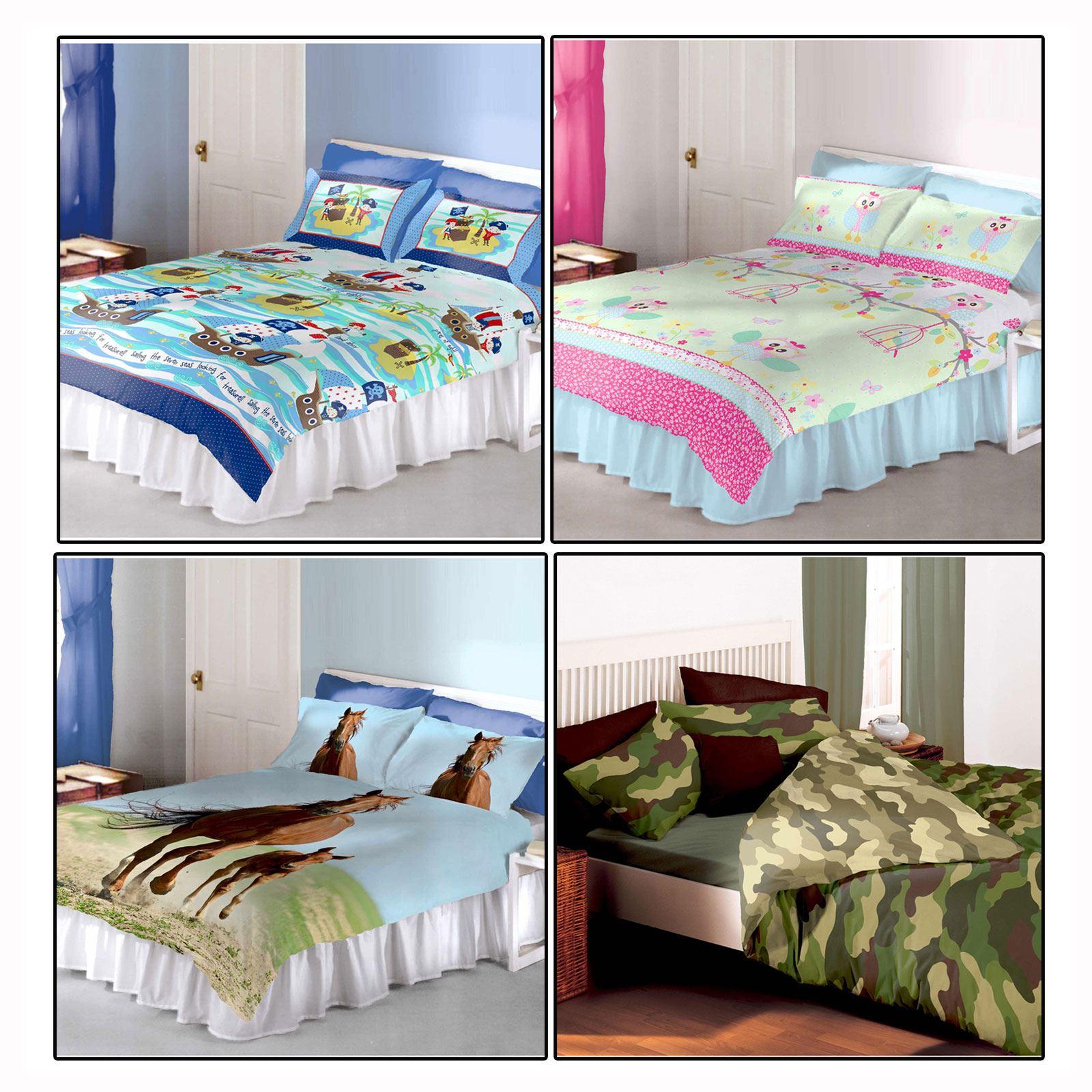 kinder doppelbetten bettw sche sets junge m dchen steppdecke ebay. Black Bedroom Furniture Sets. Home Design Ideas