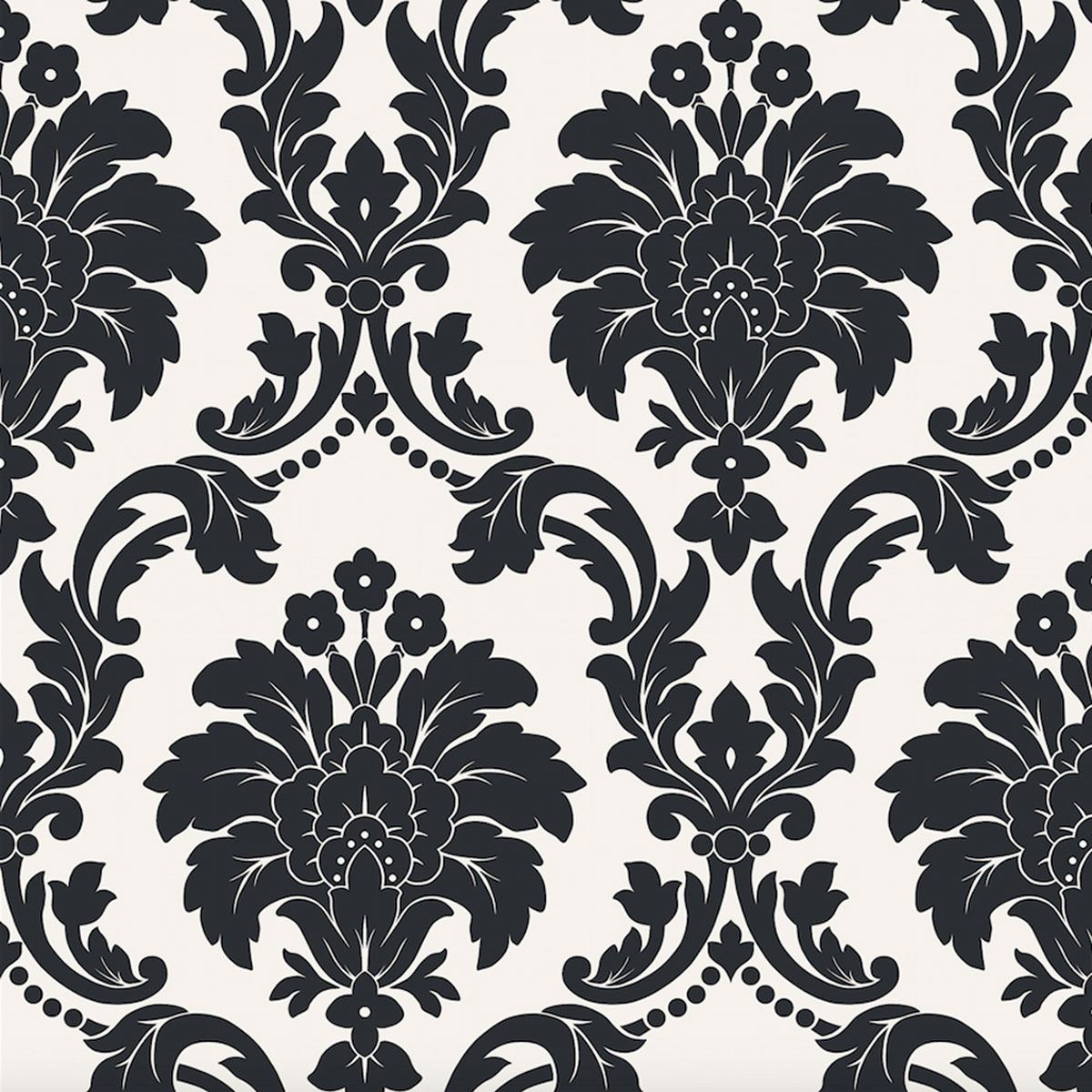 Arthouse romeo damask wallpaper feature wall decor bedroom for Black white damask wallpaper mural