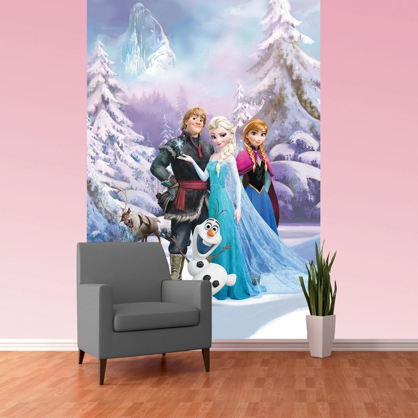 DISNEY PRINCESS Amp FROZEN WALLPAPER MURALS ANNA ELSA  Part 56