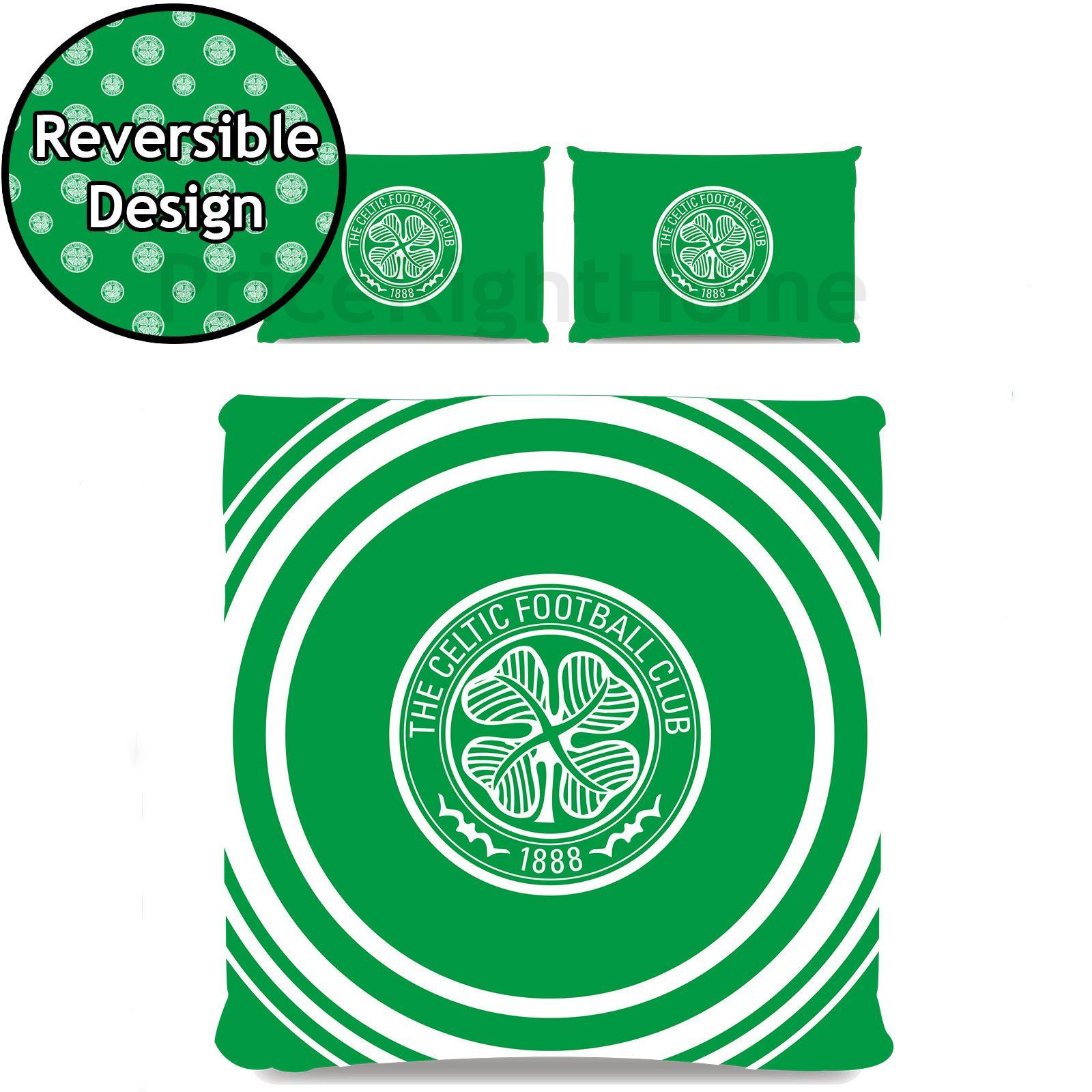 Celtic Fc Pulse Duvet Cover Set Reversible Football Club