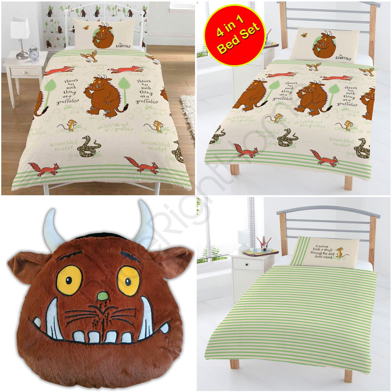 The Gruffalo Woodland Duvet Cover Set Single Junior