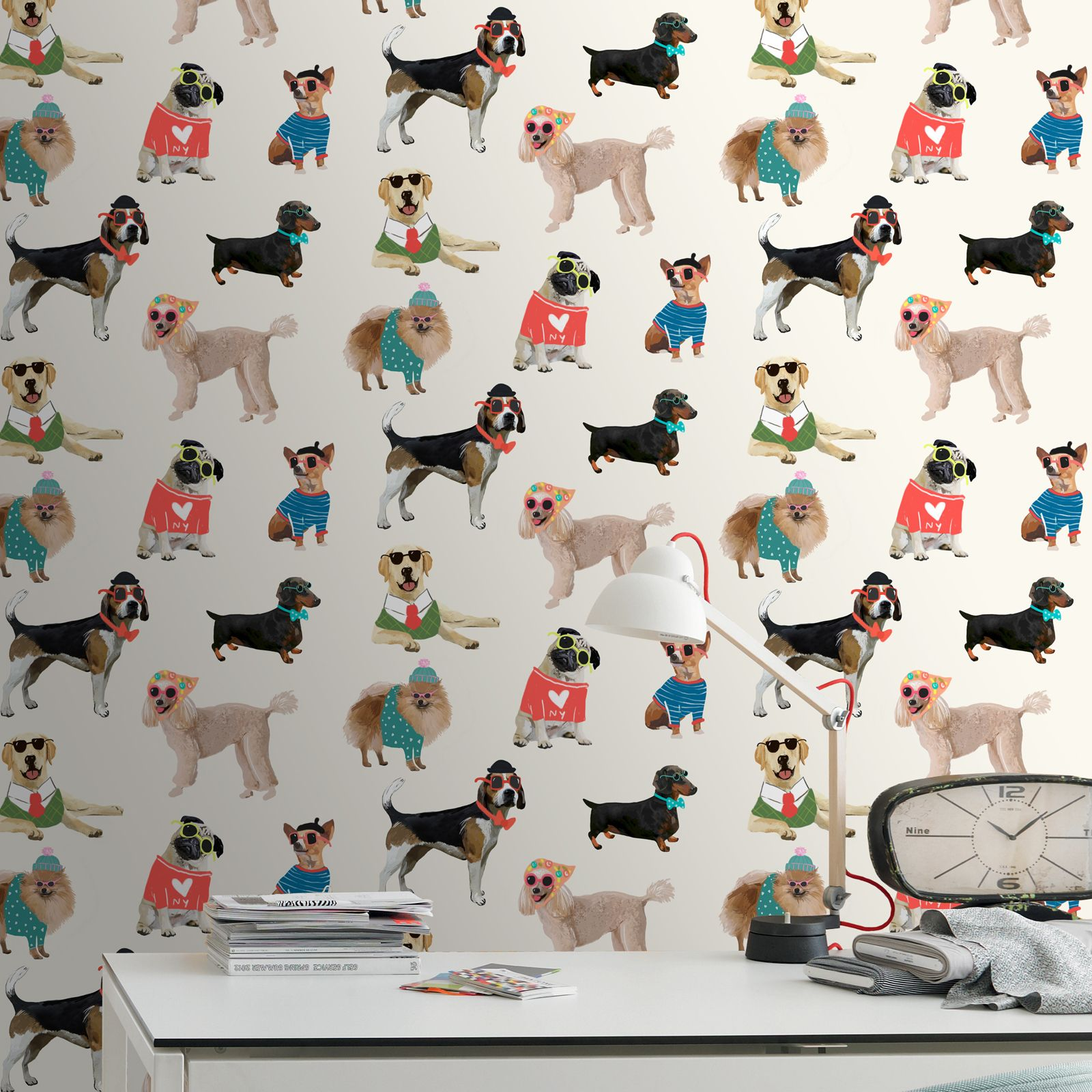 Dog Themed Wallpaper Animal Love Pug Puppy Various Designs