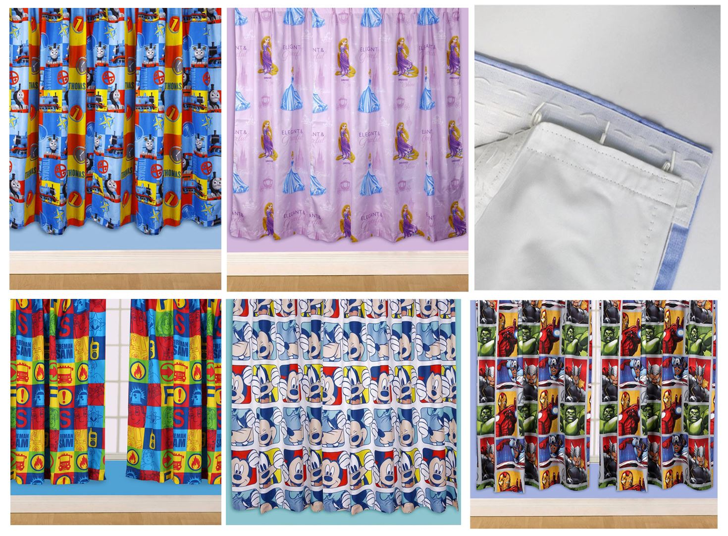 Kids Disney And Character Curtains 54 72 Inch Drop