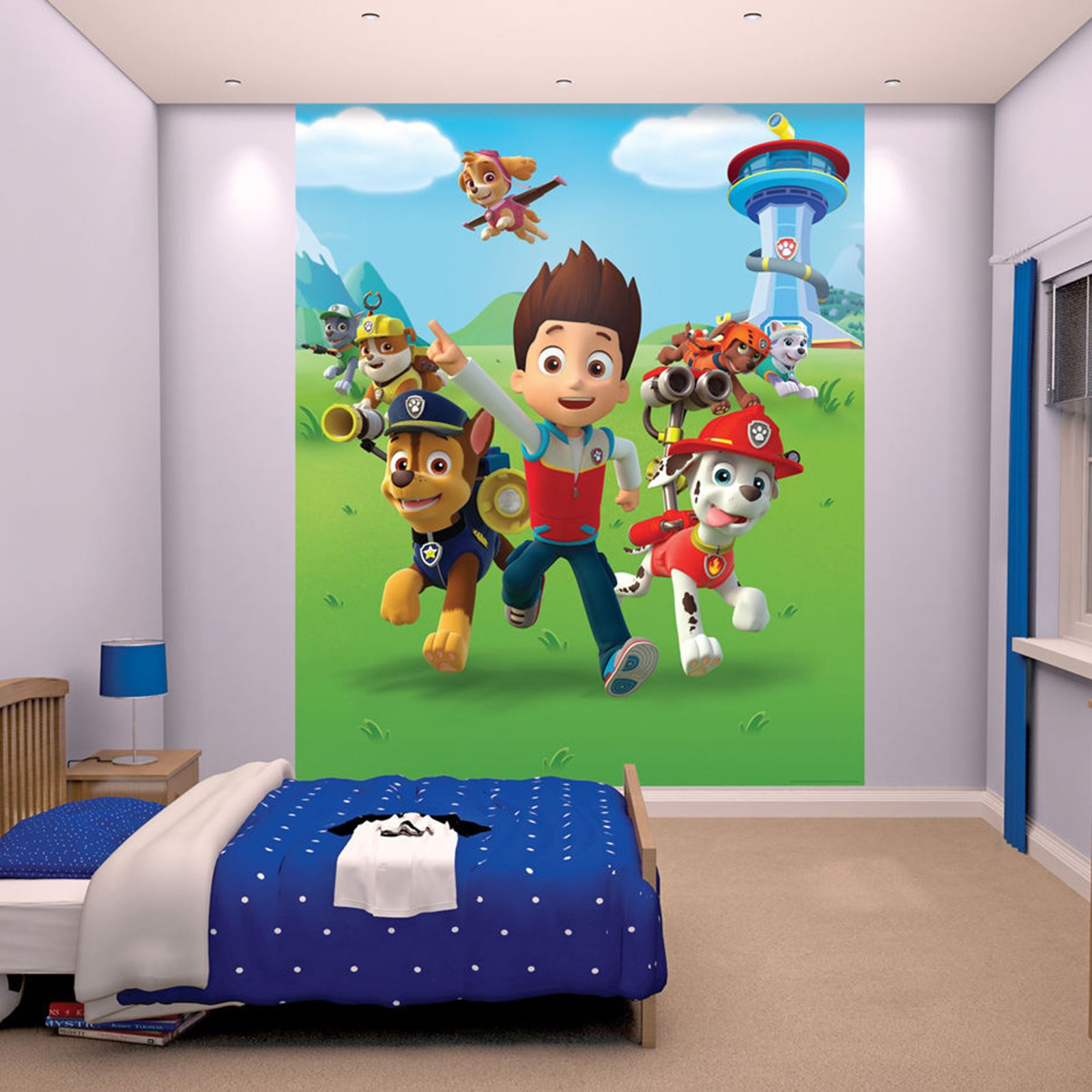 WALLTASTIC WALLPAPER WALL MURALS KIDS BEDROOM PEPPA AVENGERS