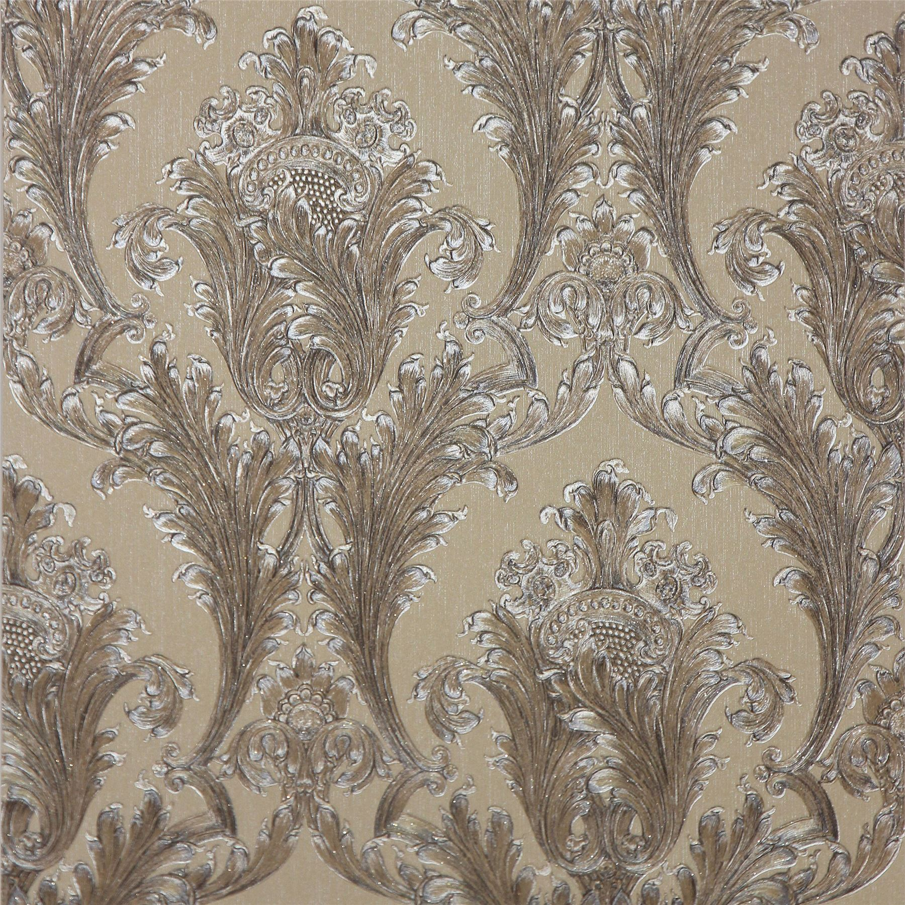 Arthouse figaro damask wallpaper red cream charcoal for Black white damask wallpaper mural