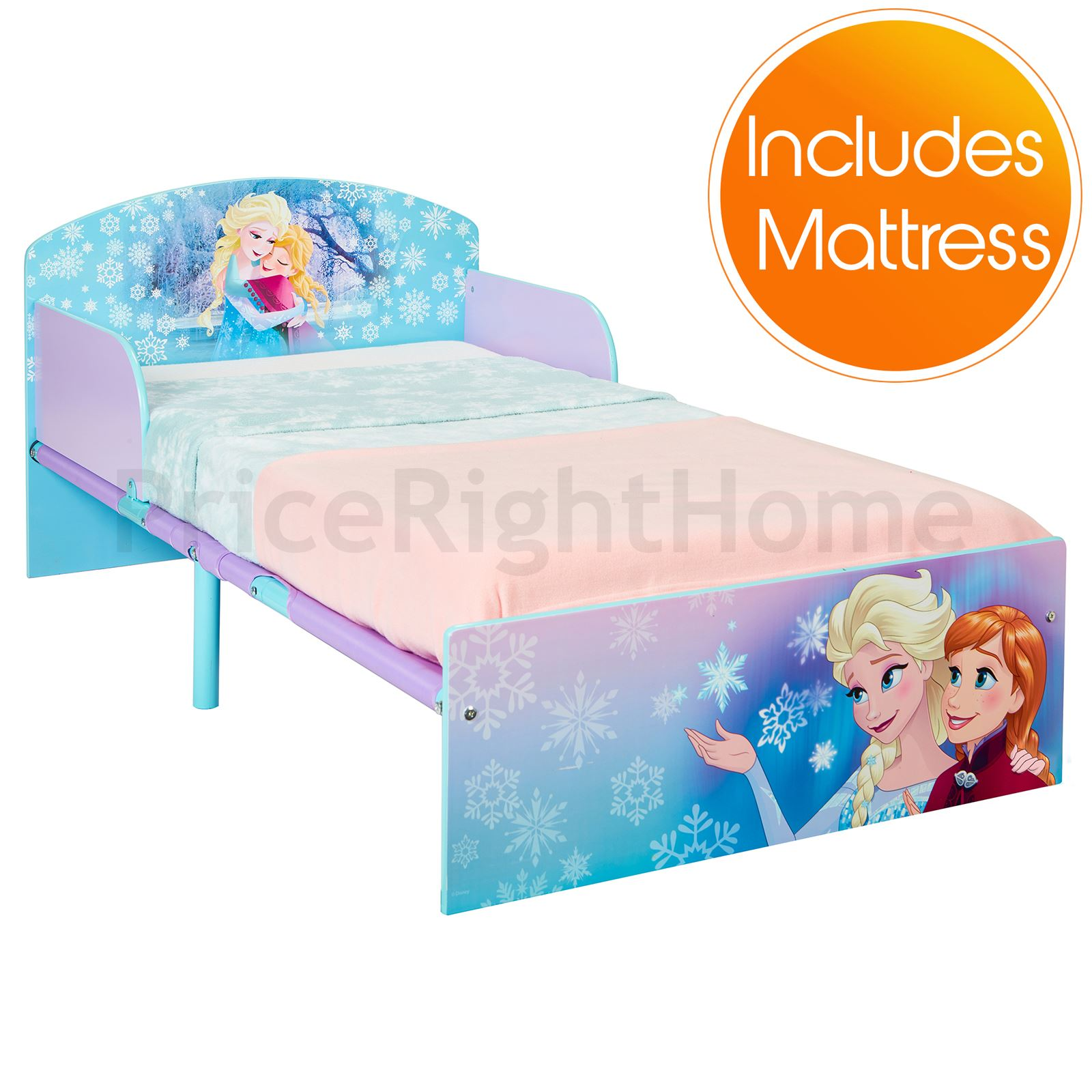 disney frozen kleinkind bett mit schutz seite wachen und 3 matratze optionen neu ebay. Black Bedroom Furniture Sets. Home Design Ideas