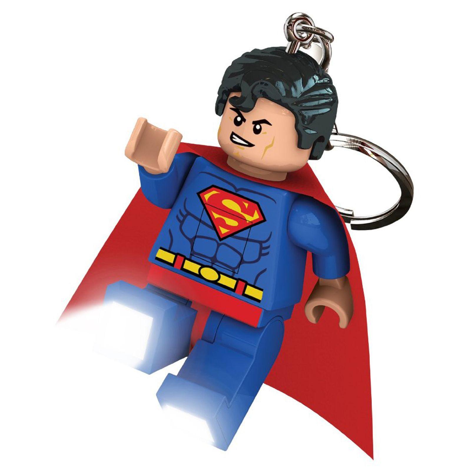 lego dc super heroes superman led lite keyring torch ebay
