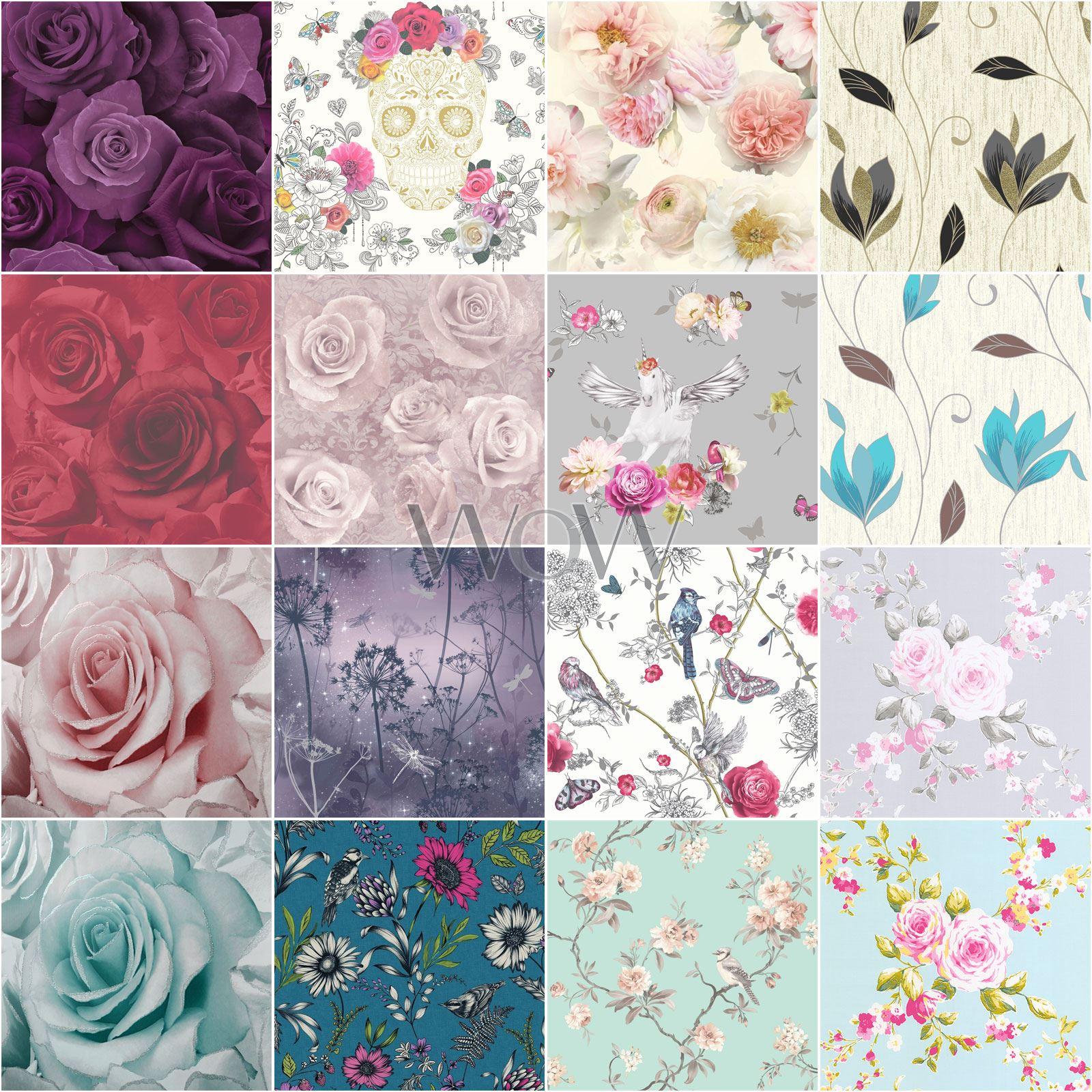 RASCH 442229 SHABBY CHIC ROSE WALLPAPER TEAL FLORAL FEATURE WALL NEW