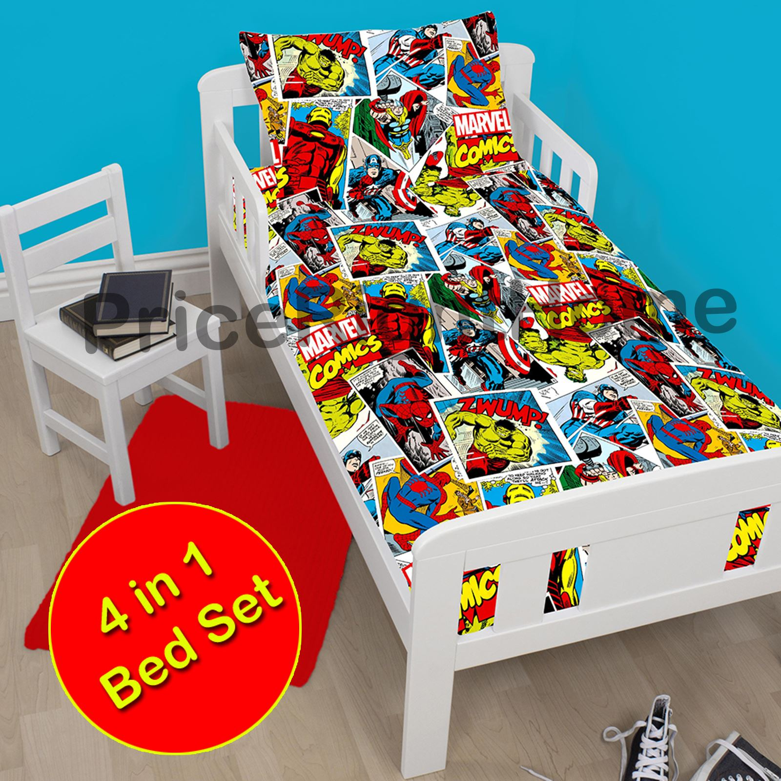 DISNEY Amp CHARACTER 4 IN 1 TODDLER BEDDING