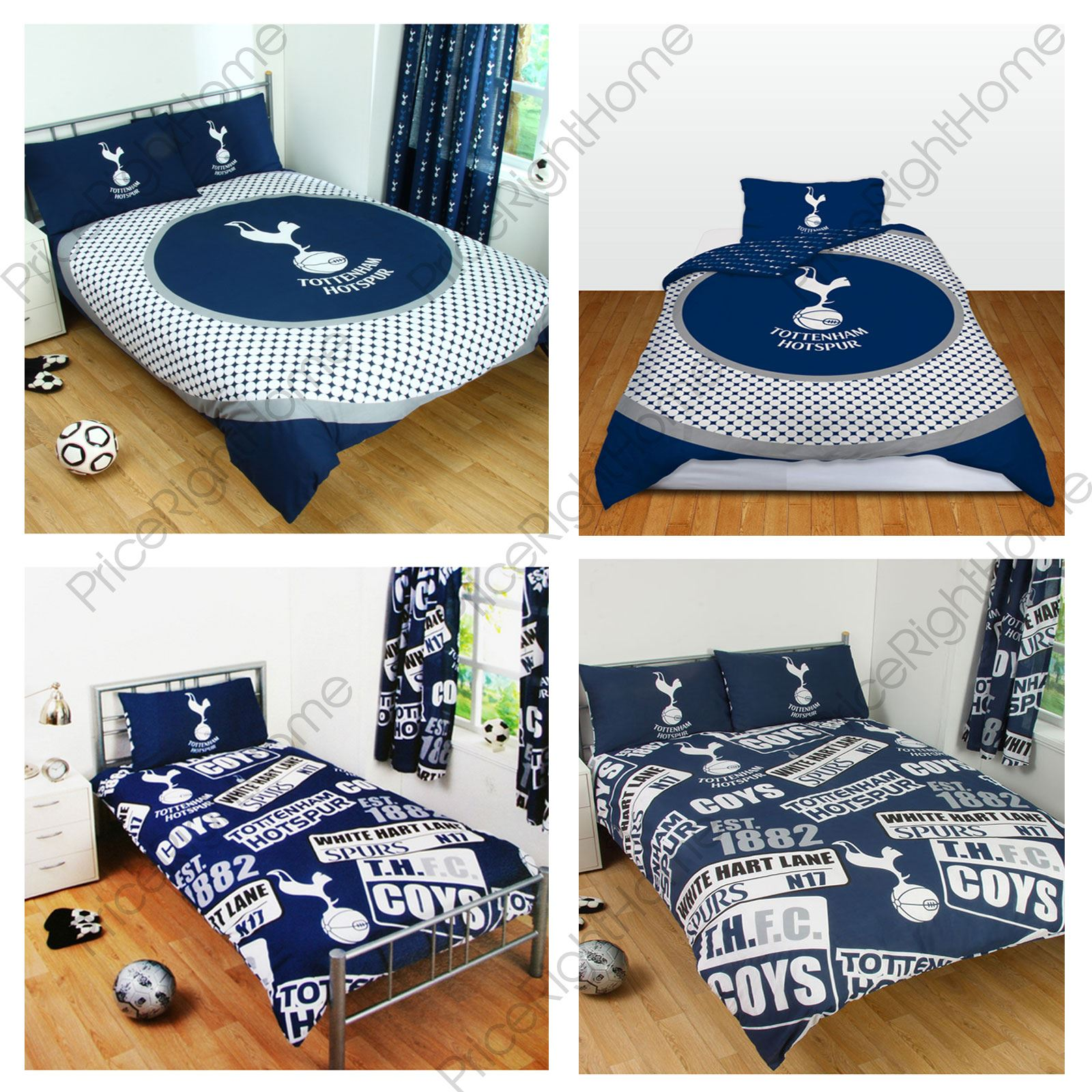 Tottenham Fc Duvet Cover Sets Available In Single Double 100 Official Bedding Ebay