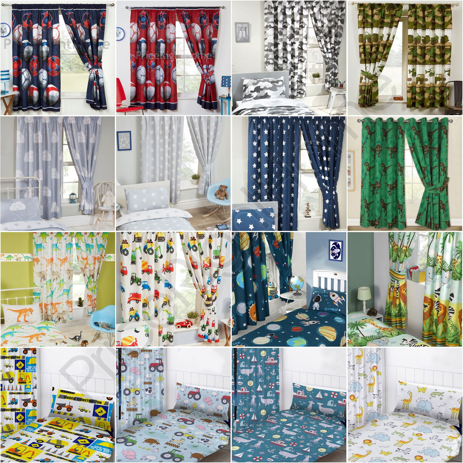 Details about BOYS BEDROOM CURTAINS 66\