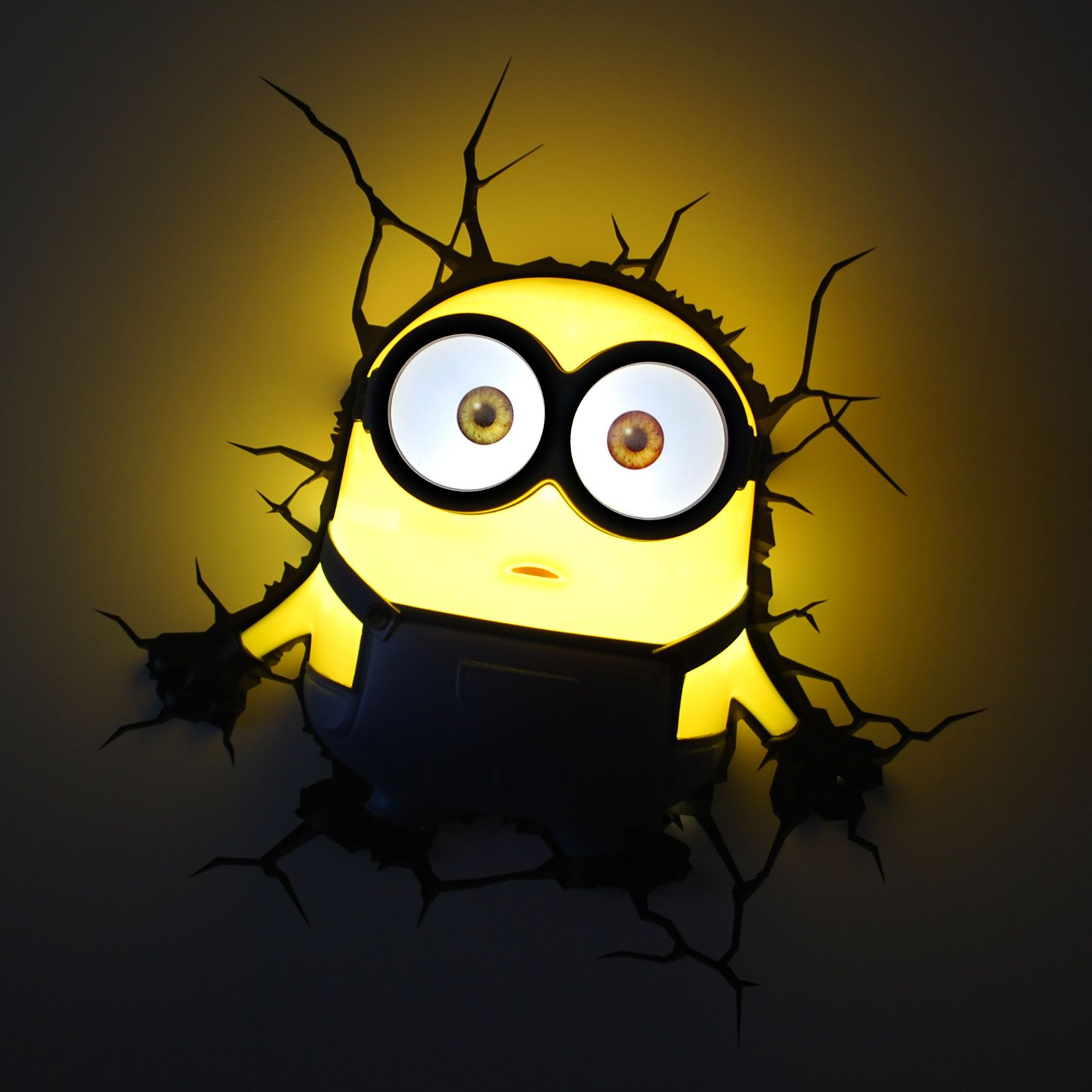 MINIONS 3D LED WALL LIGHTS NEW KIDS BEDROOM ACCESSORY 100% OFFICIAL ...