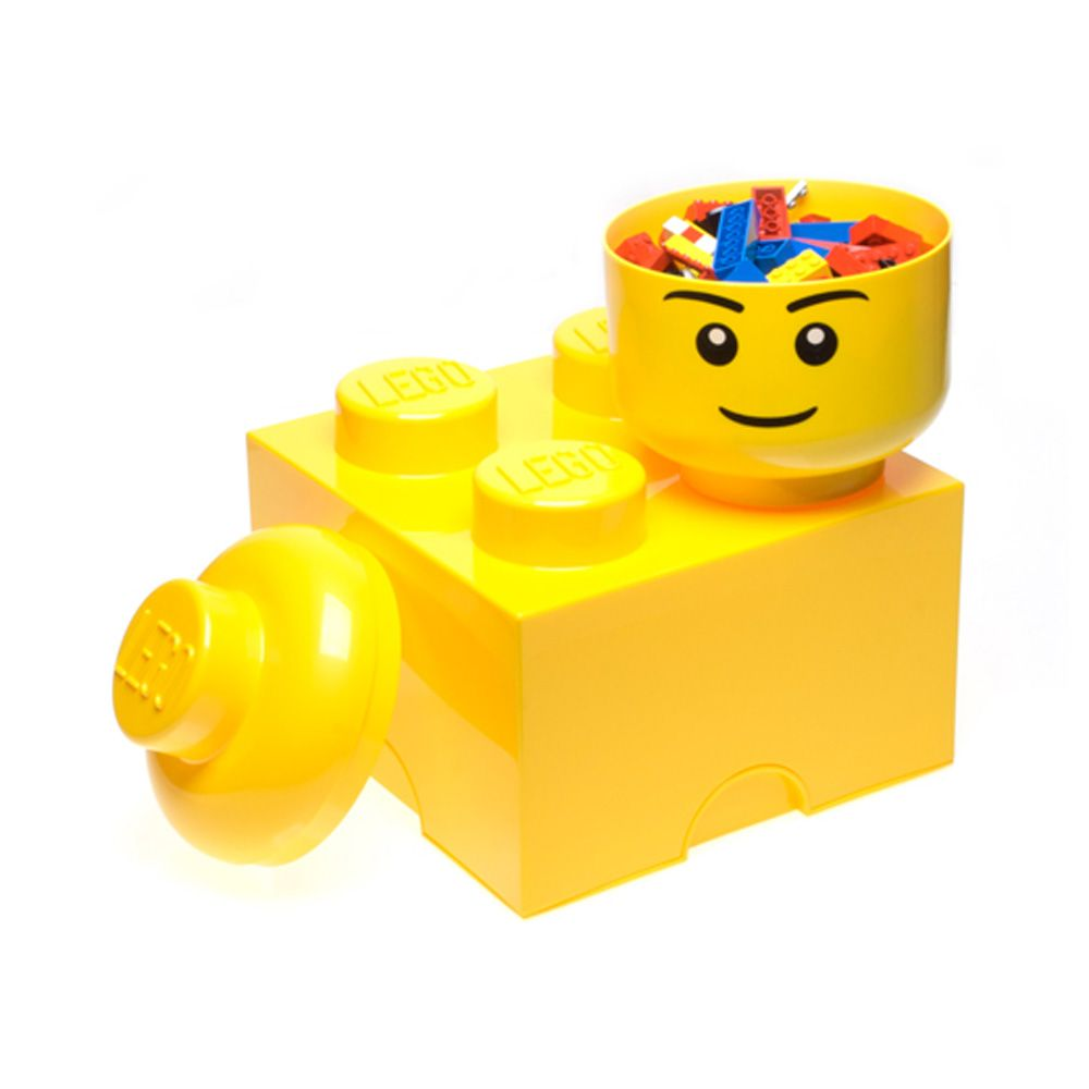 lego aufbewahrung backstein w rfel 4 gelb kinder neue 100 offiziell ebay. Black Bedroom Furniture Sets. Home Design Ideas
