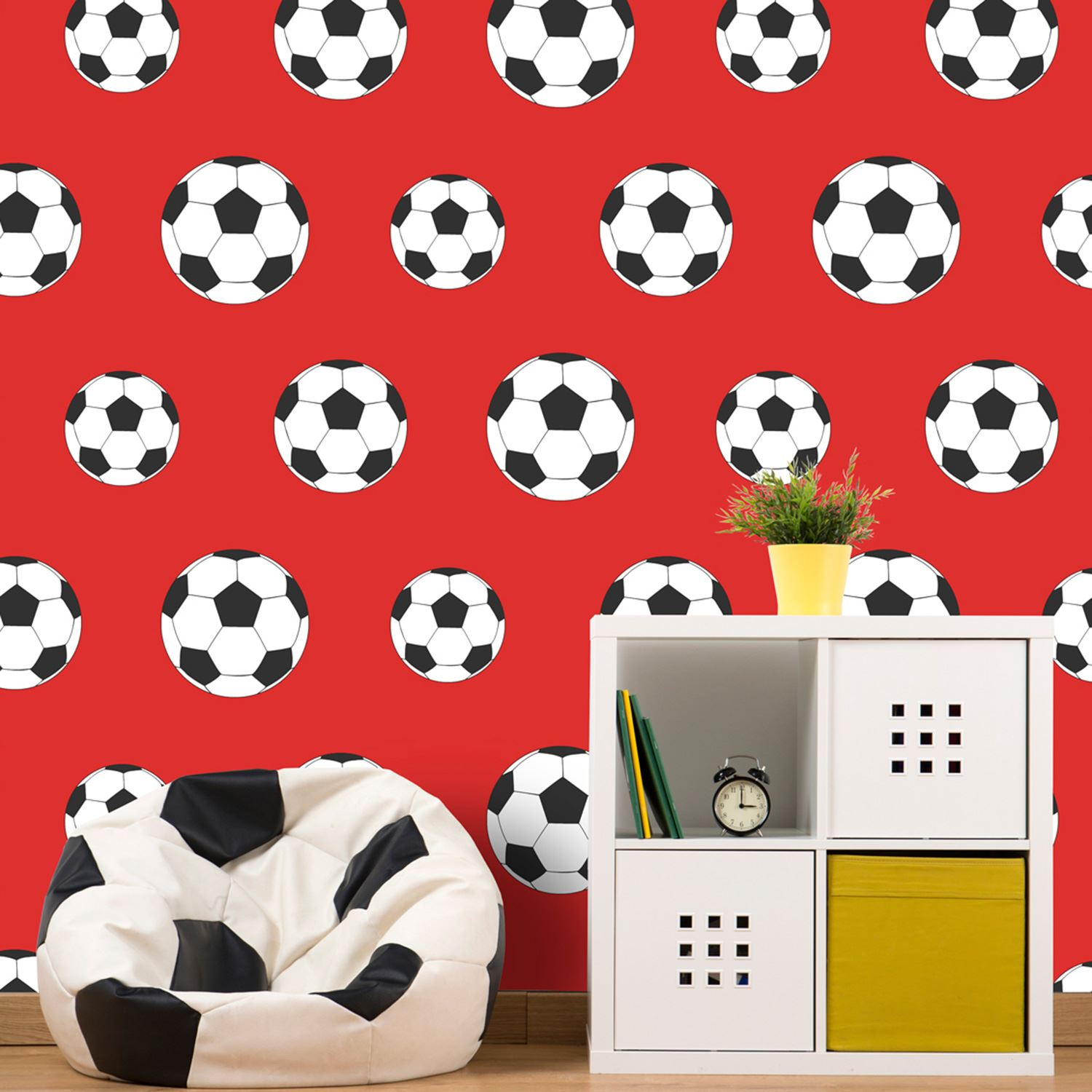 Goal Football Wallpaper Red 9720 Belgravia Decor Kids Boys Room