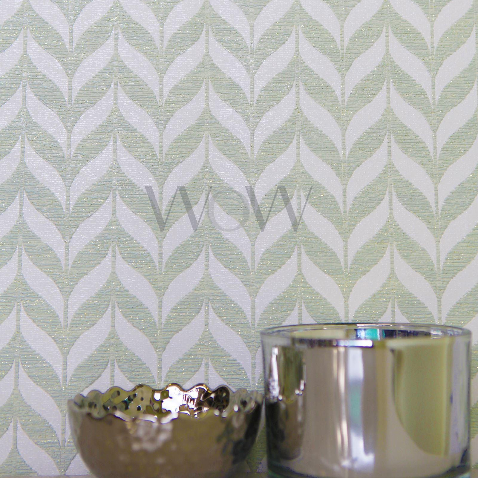 Trellis Wallpaper Metallic: GEOMETRIC WALLPAPER GLITTER METALLIC