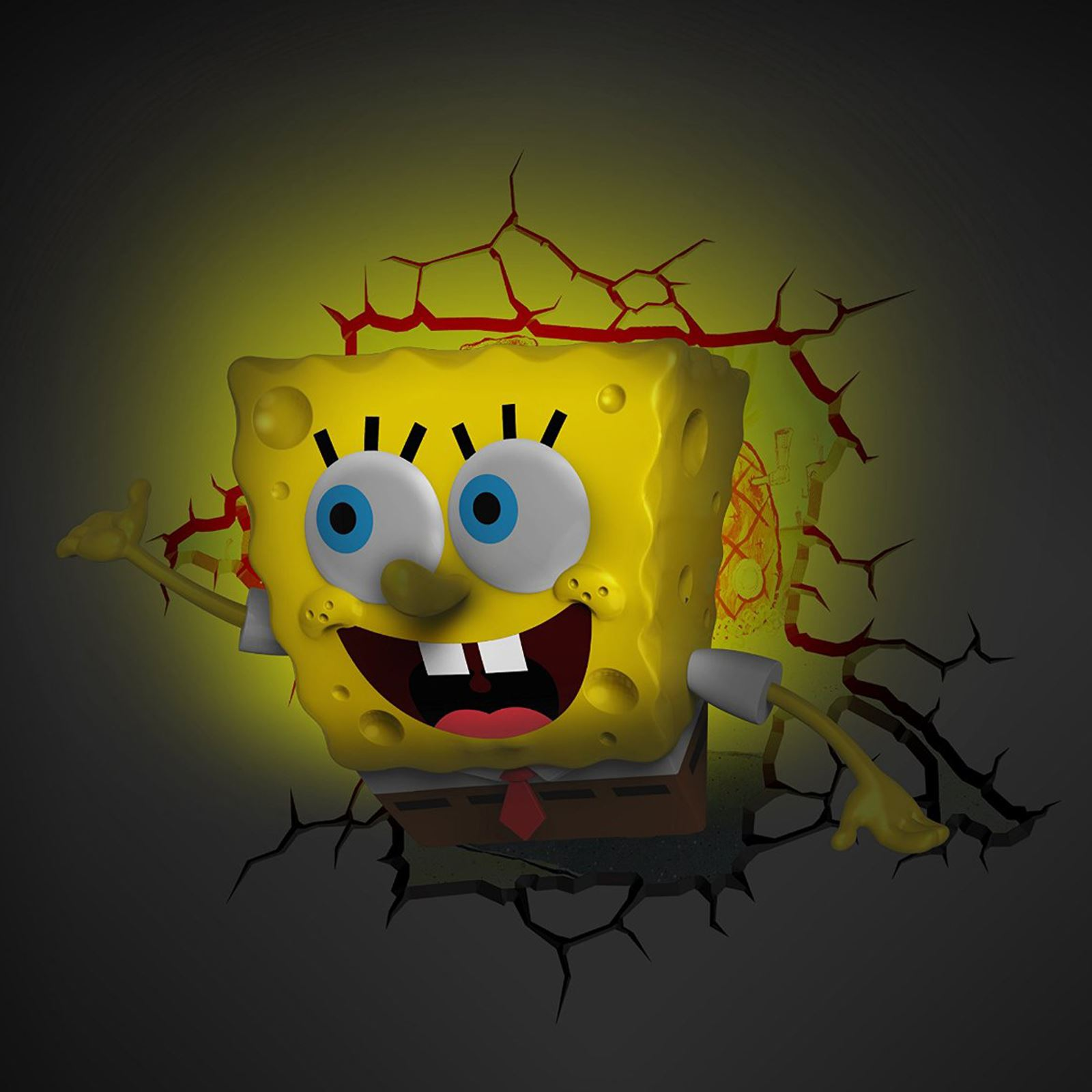 SPONGEBOB SQUAREPANTS 3D LED DECO WALL LIGHT + CRACK STICKERS NEW | eBay